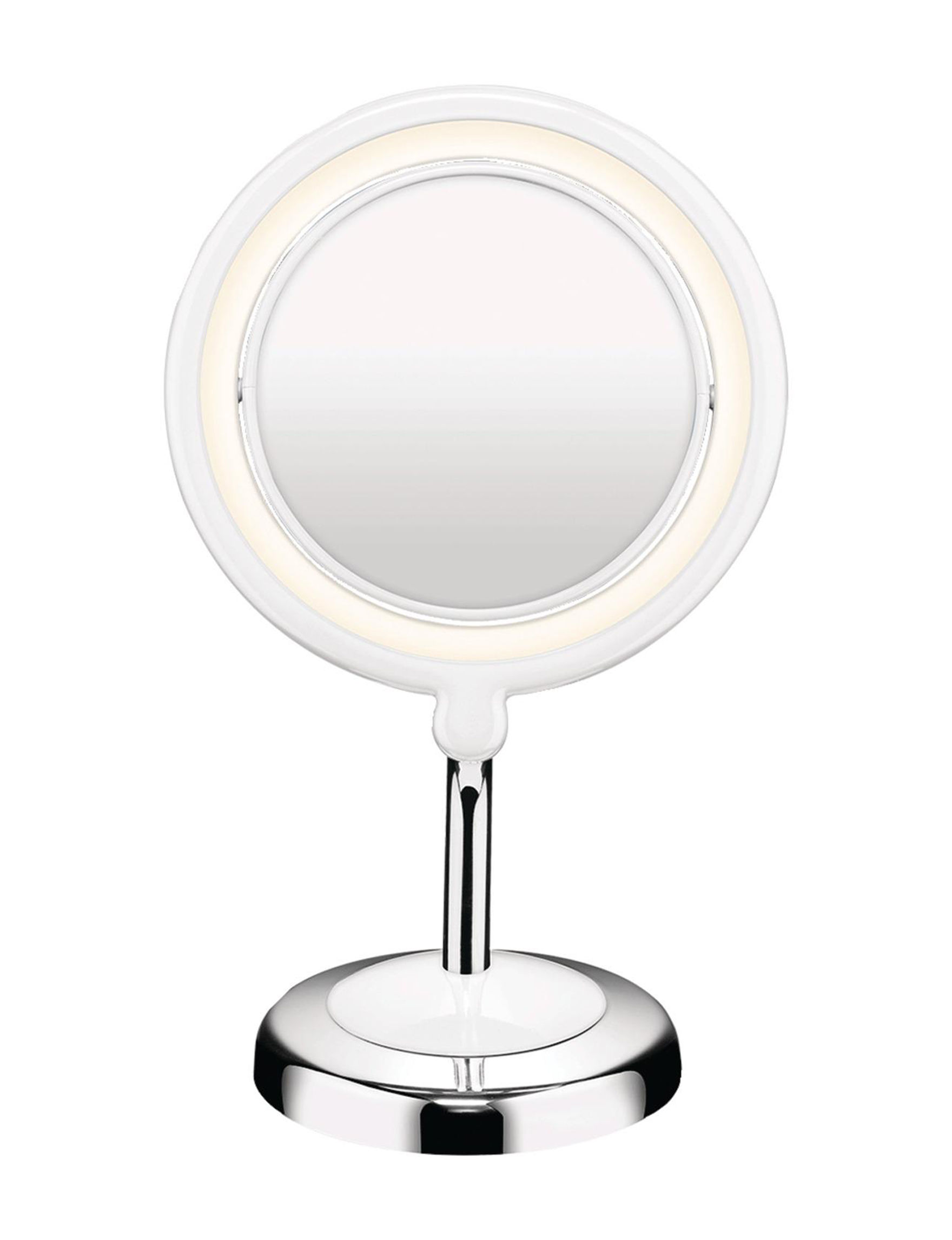 Conair White / Silver Tools & Brushes Vanity Mirrors Bath Accessories