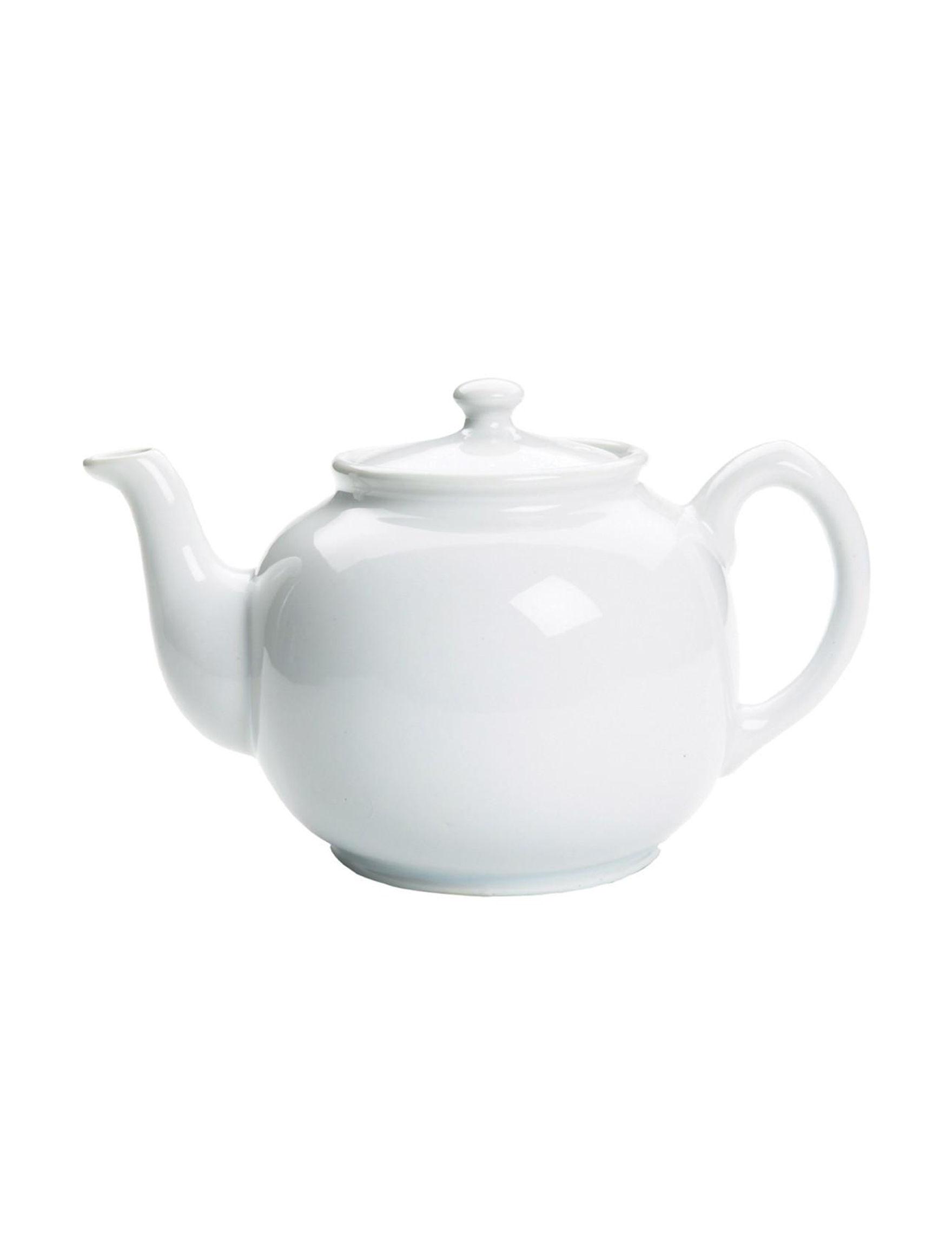 Fox Run White Teapots Prep & Tools