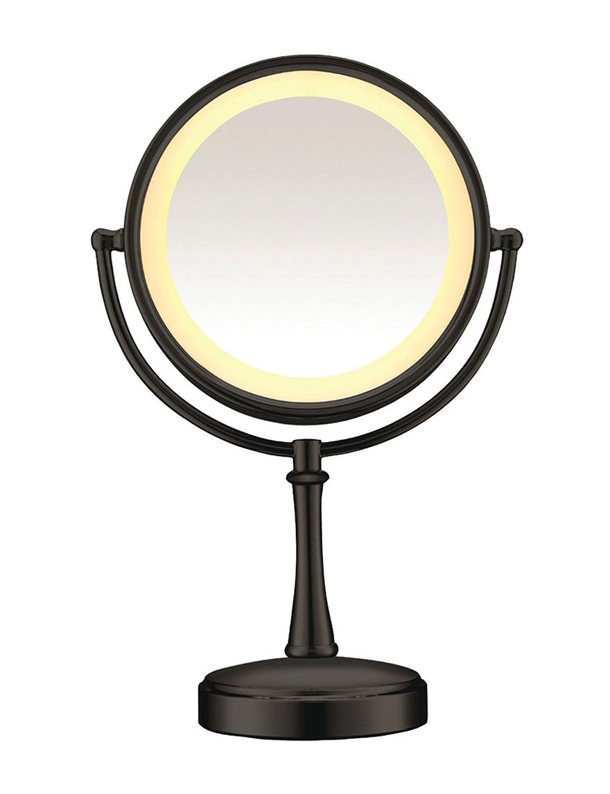 Conair Black Vanity Mirrors Bath Accessories