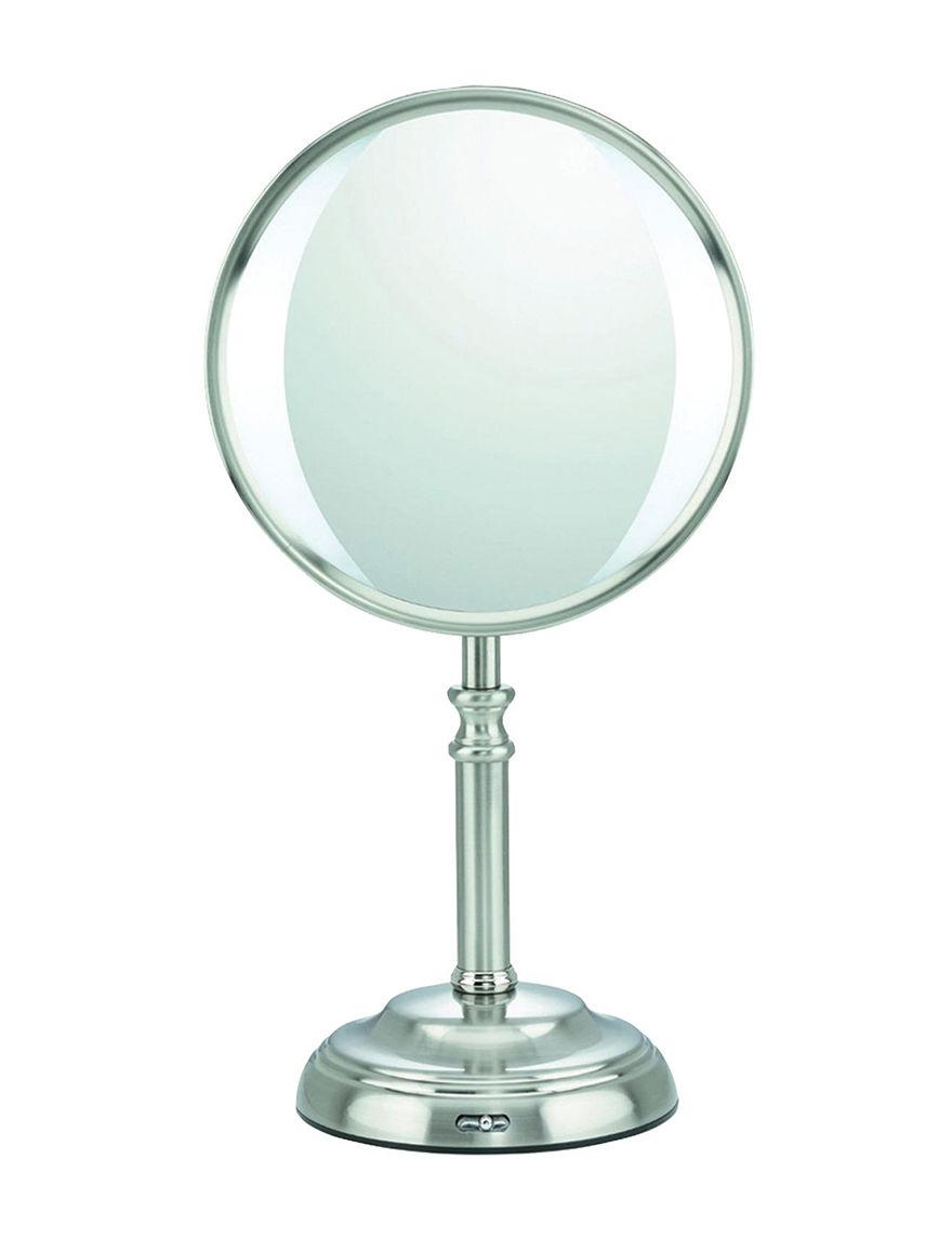 Conair Silver Vanity Mirrors Bath Accessories