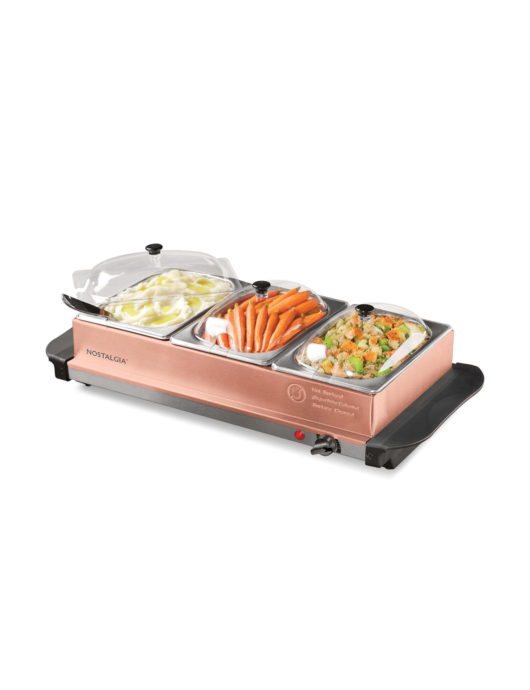 Nostalgia Electrics Copper Serving Platters & Trays Kitchen Appliances