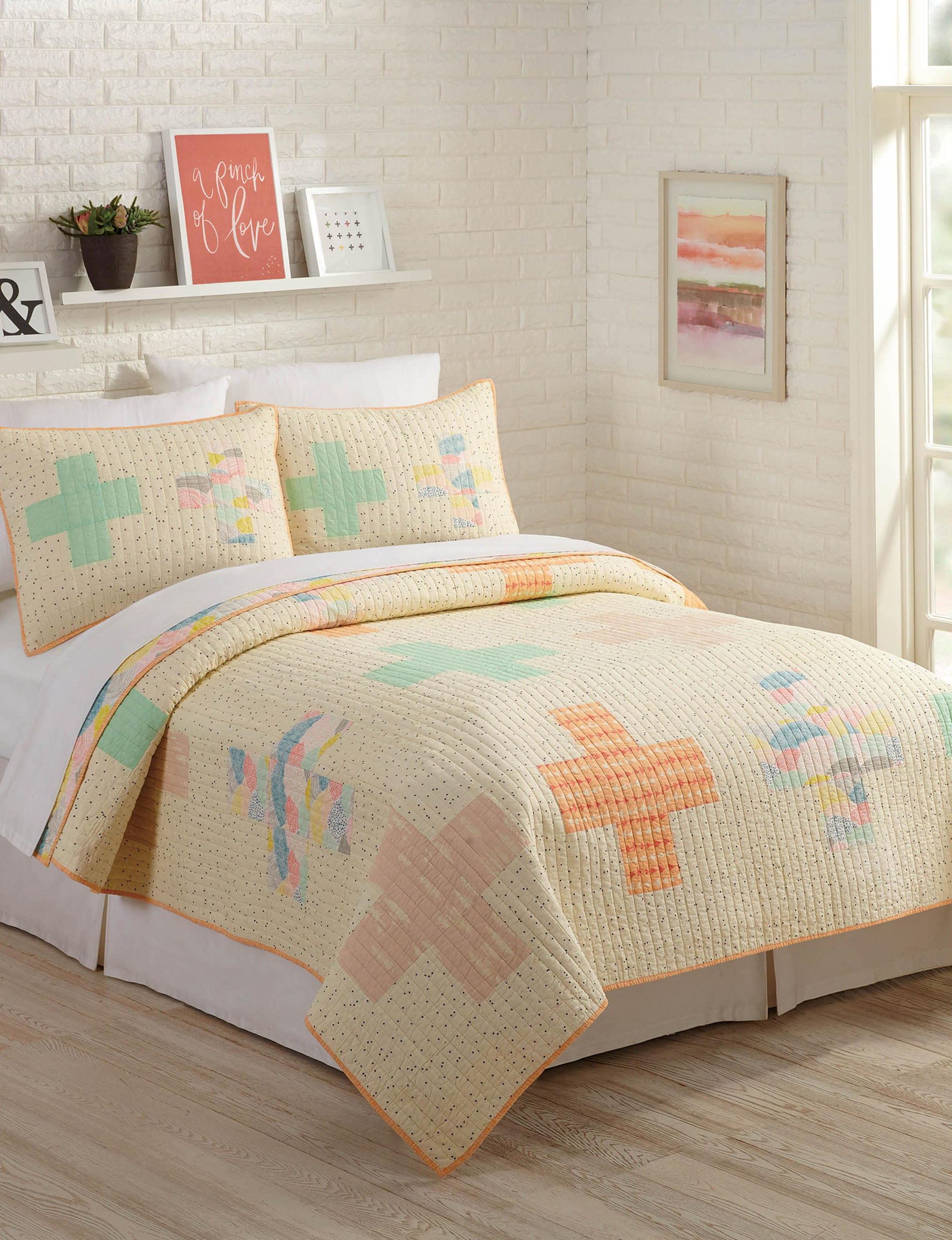 Makers Collective Ivory Multi Quilts & Quilt Sets