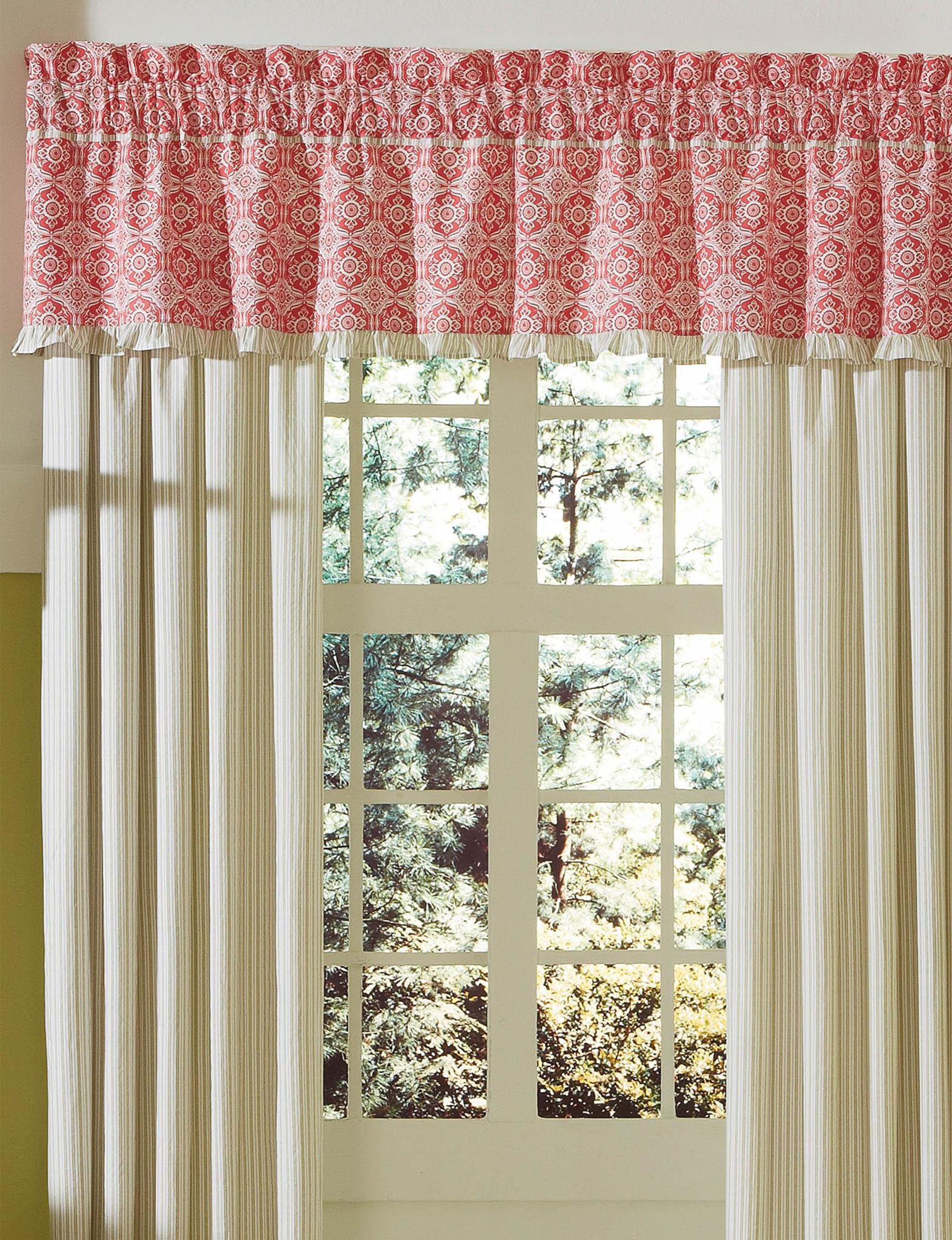 Mary Jane's Home Pink / White Valances Window Treatments