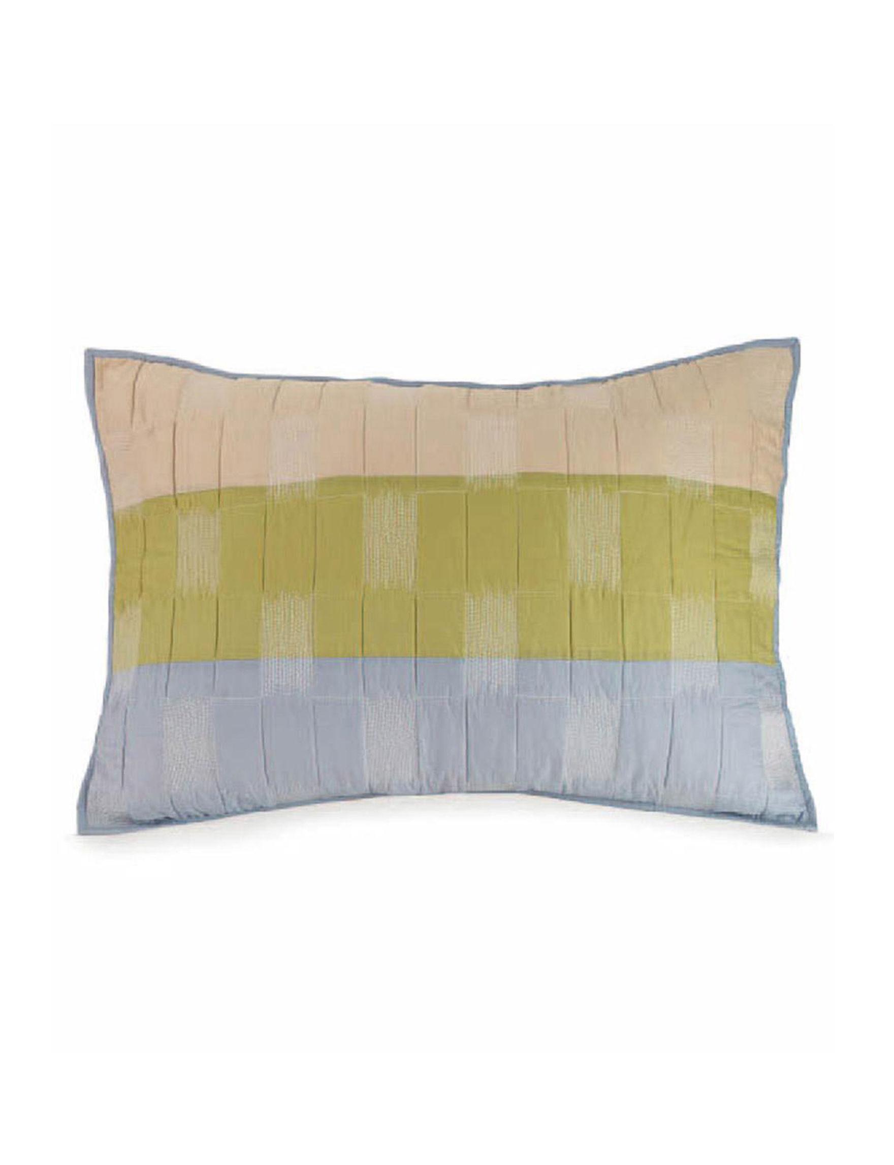 Presidio Square Blue/ Green/ Beige Pillow Shams