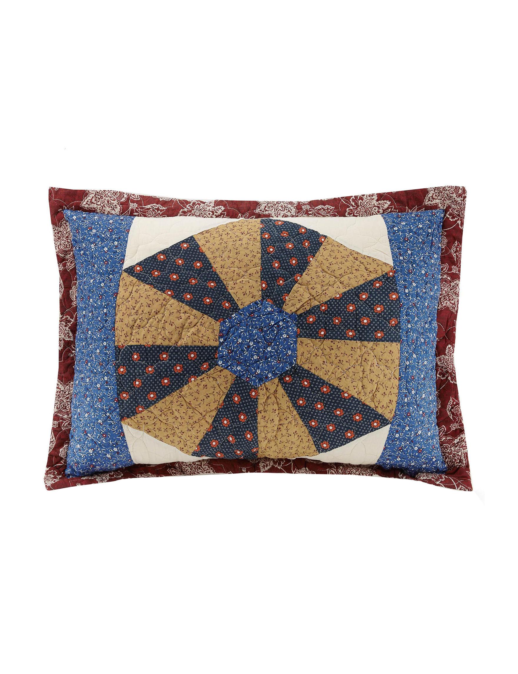 Mary Jane's Home Blue Multi Pillow Shams