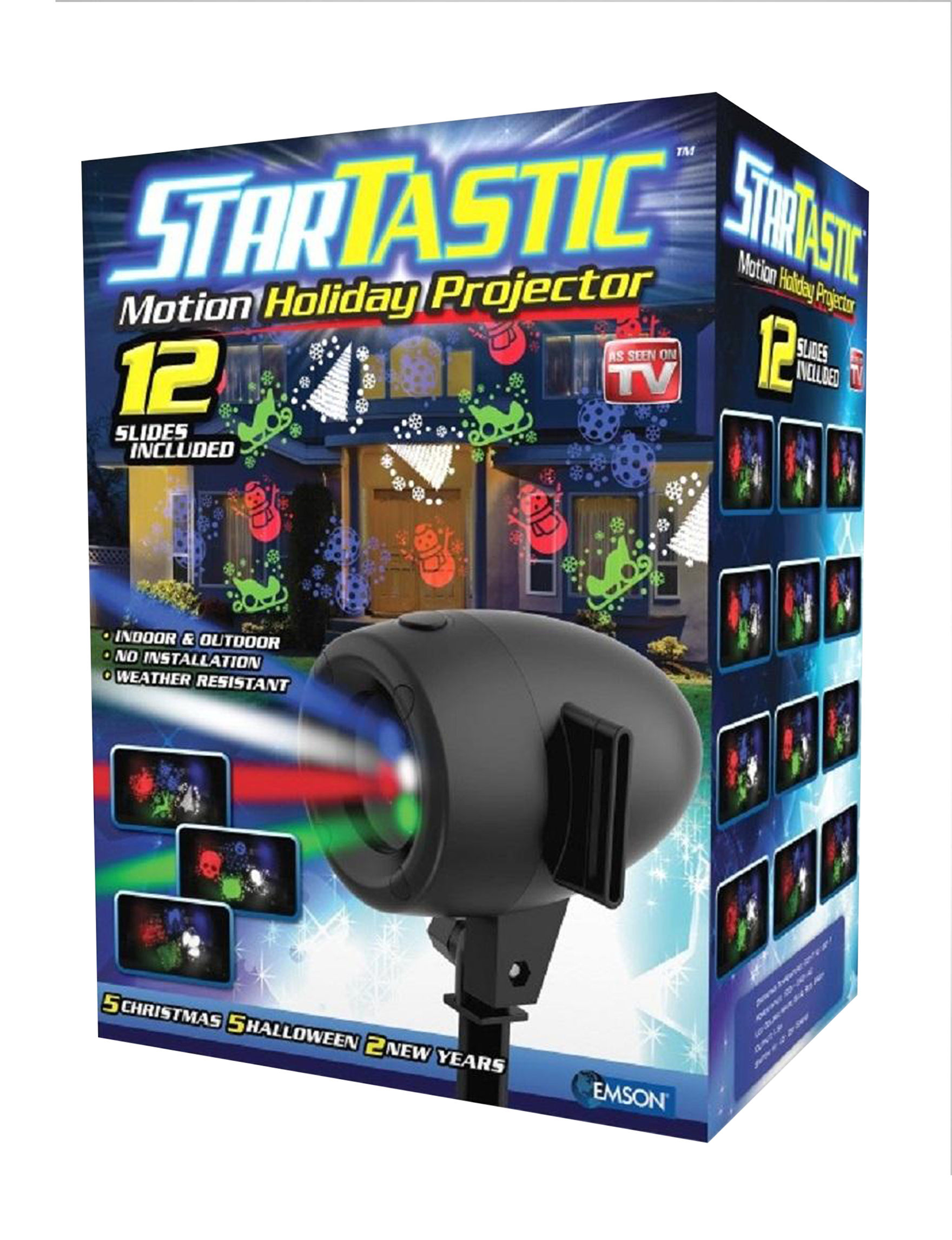 As Seen on TV Black / Multi Lights & Lanterns Outdoor Holiday Decor Holiday Decor