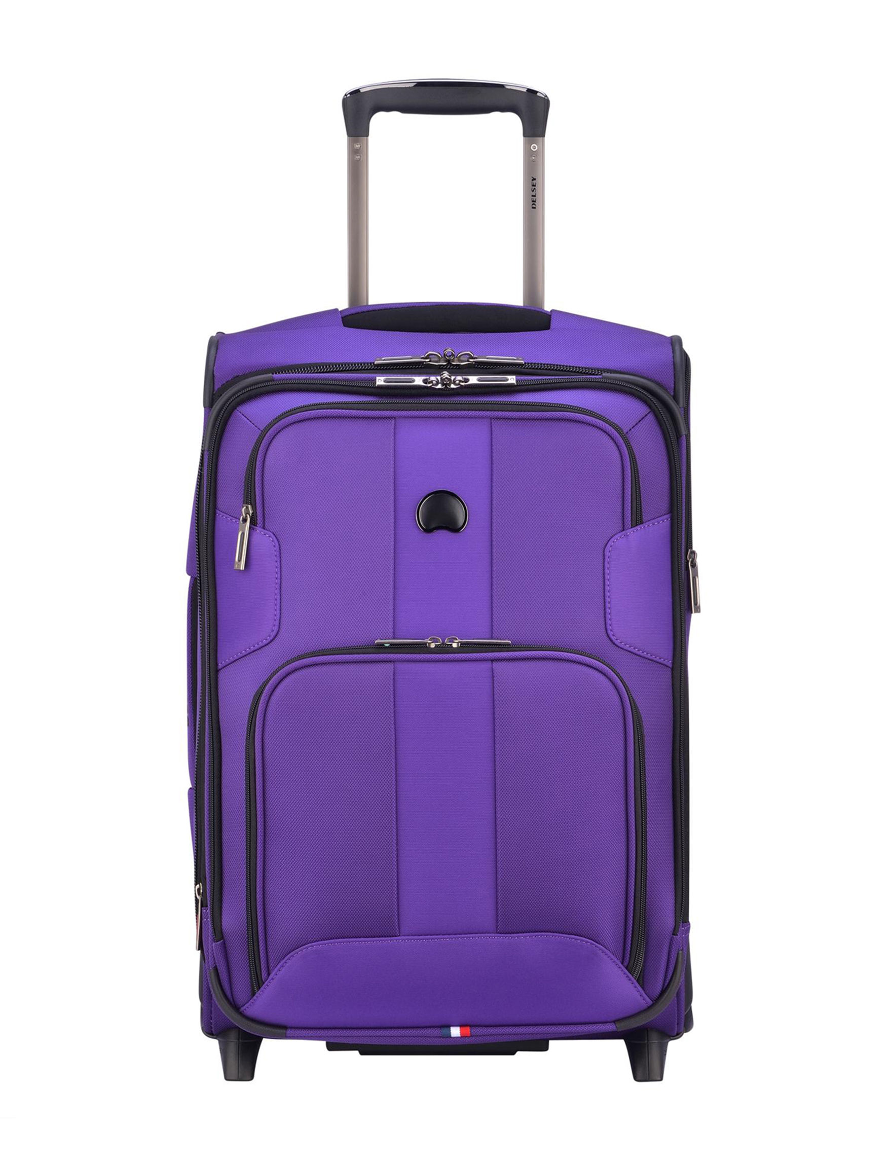 Delsey Purple Carry On Luggage