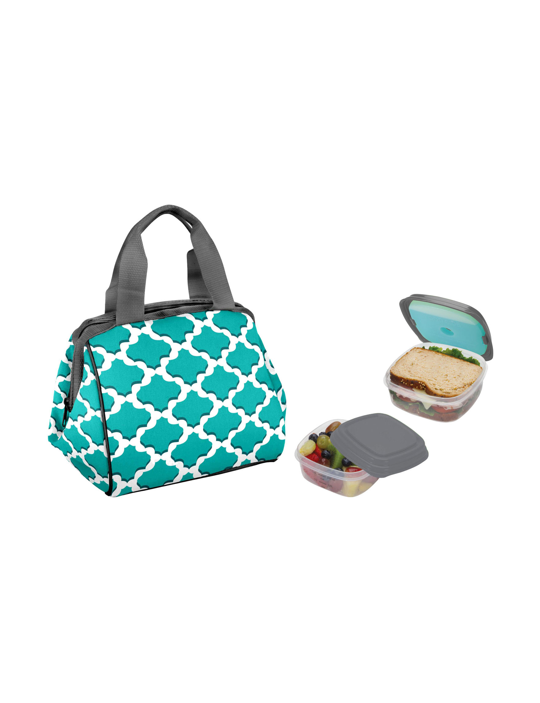 Fit & Fresh Blue Lunch Boxes & Bags Prep & Tools