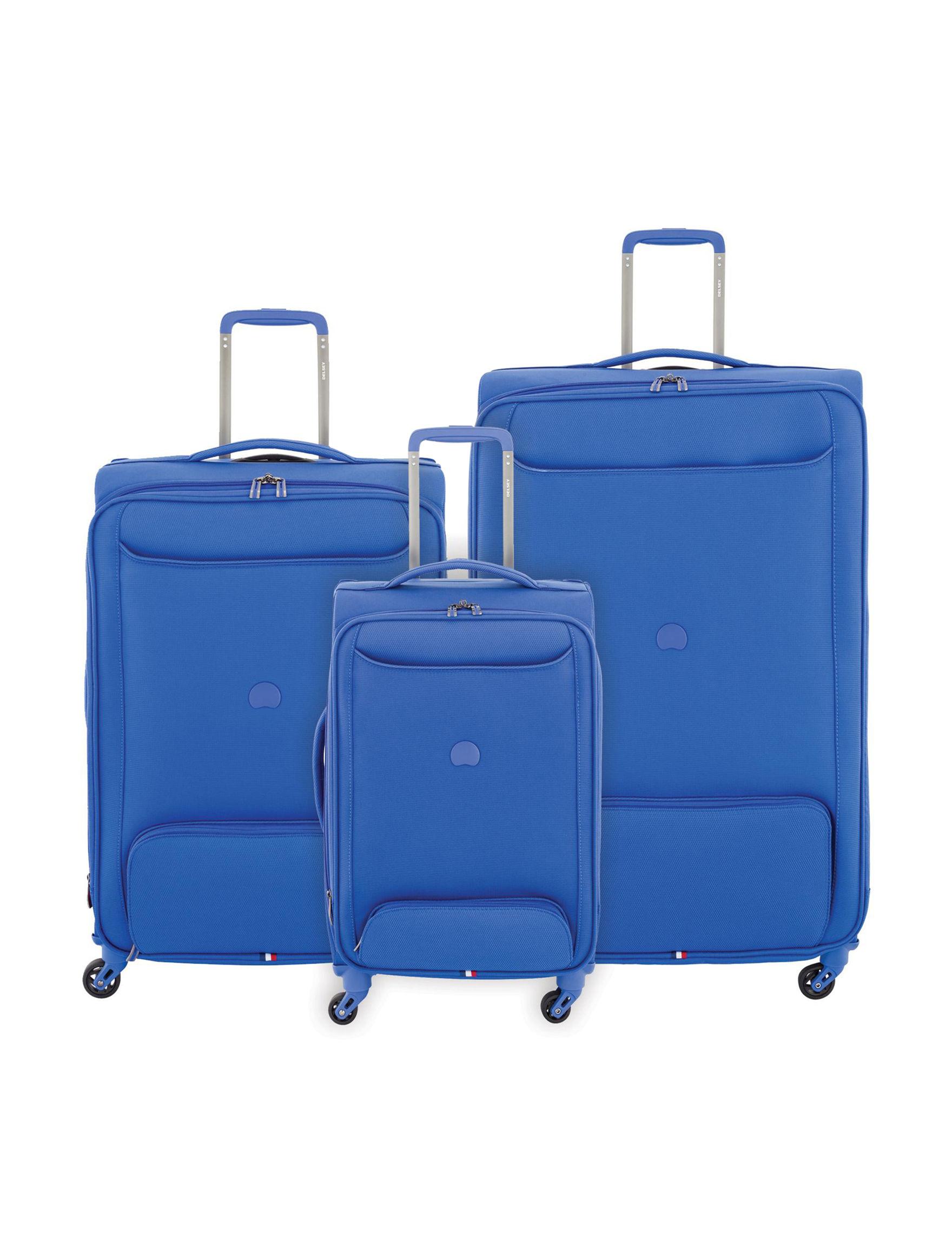 Delsey Blue Luggage Sets