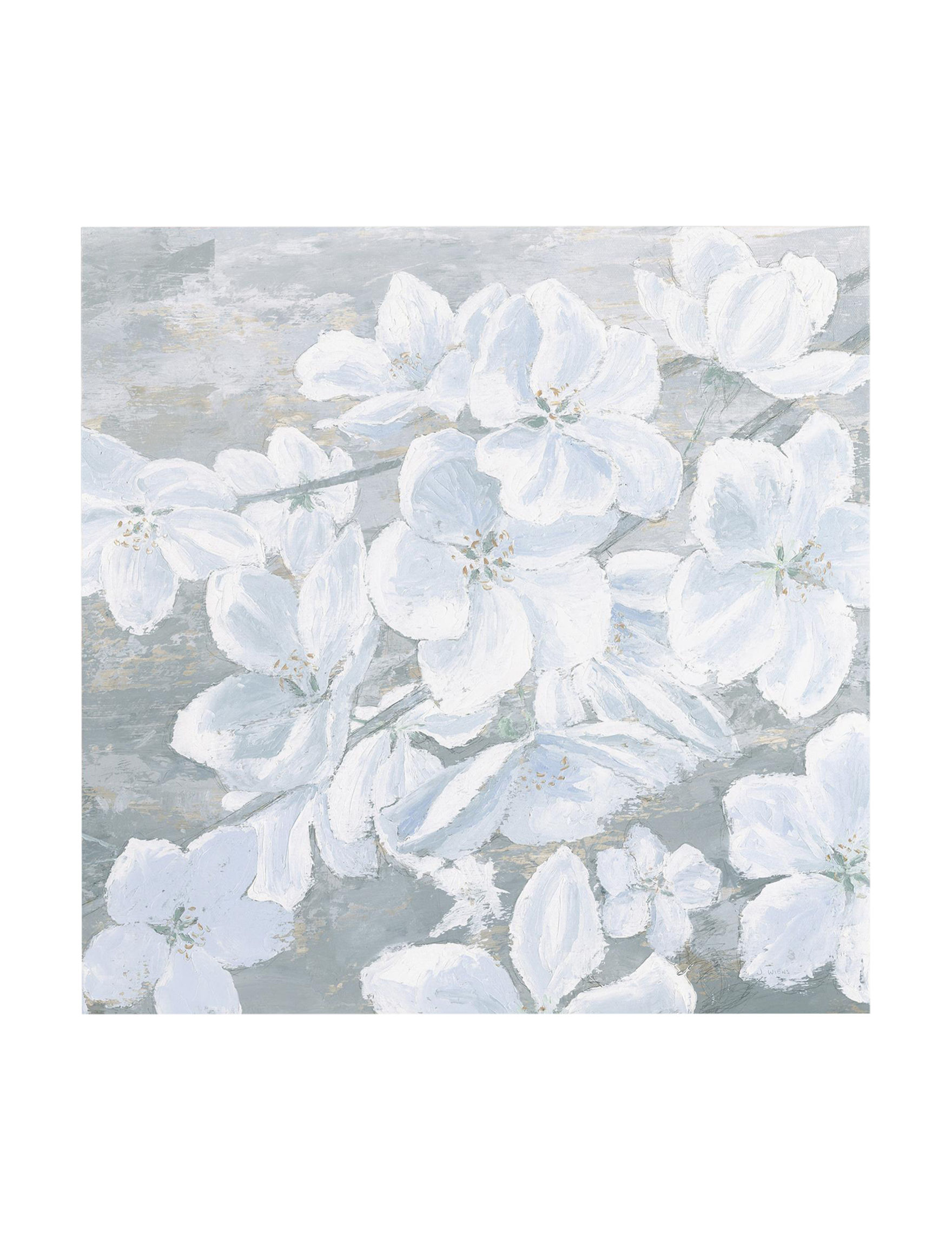 Trademark Fine Art White / Grey Wall Art Home Accents Wall Decor