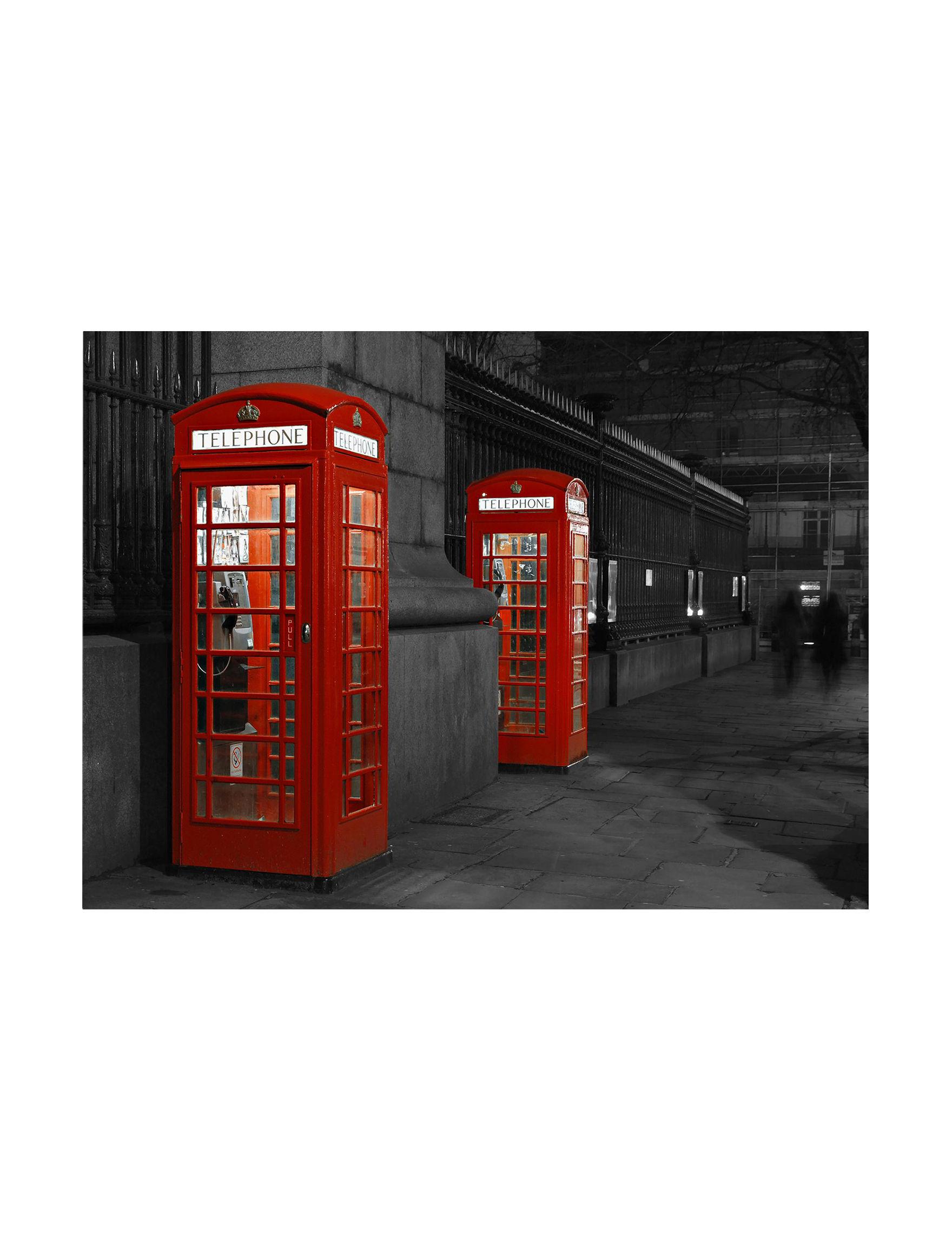 Trademark Fine Art Red / Black / White Wall Art Home Accents Wall Decor