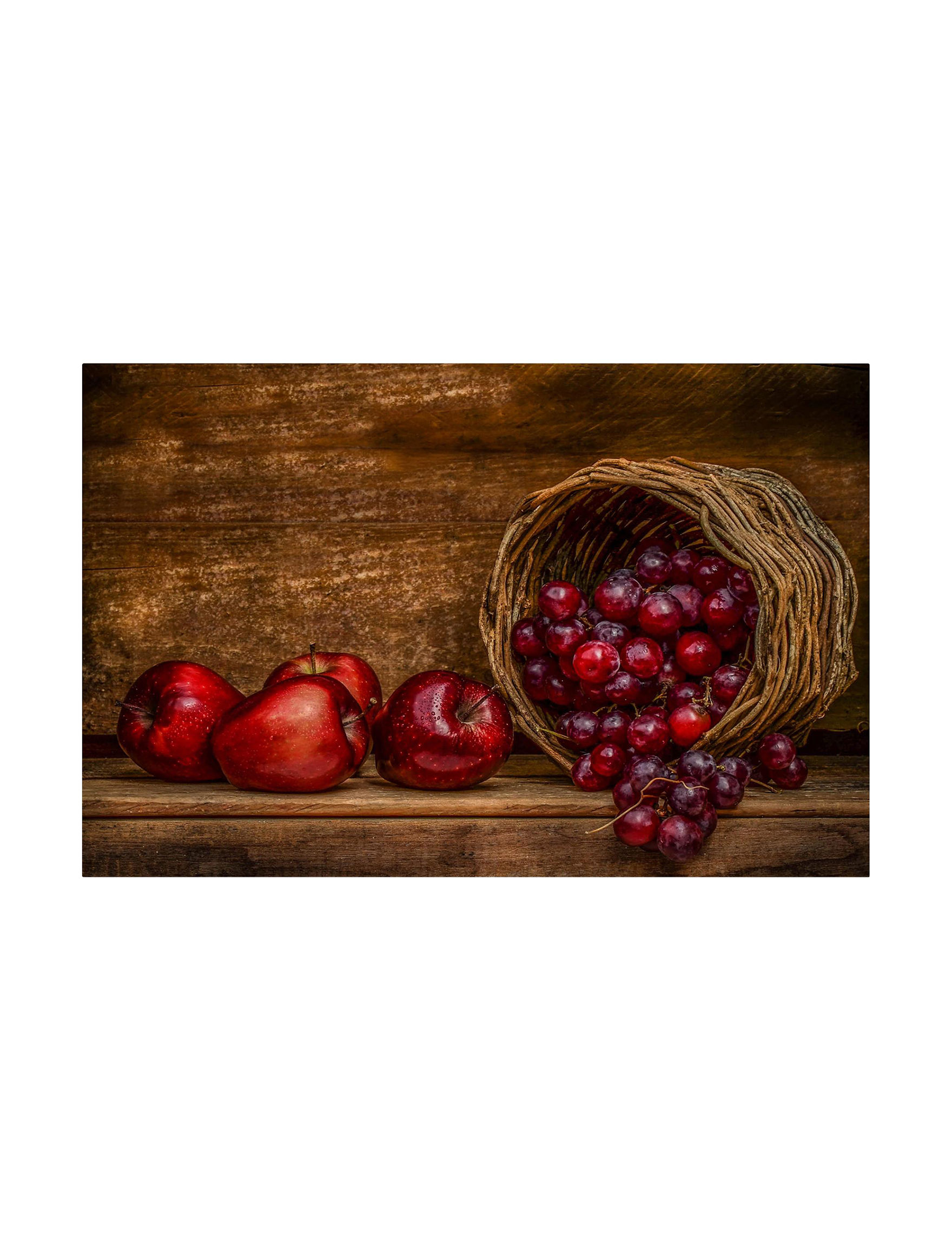 Trademark Fine Art Brown / Red Wall Art Wall Decor
