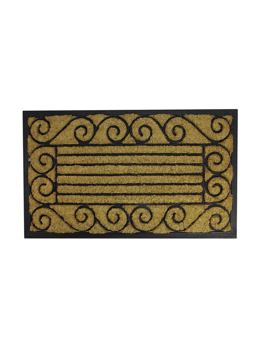 Northlight Black / Beige Outdoor Rugs & Doormats Home Accents Outdoor Decor