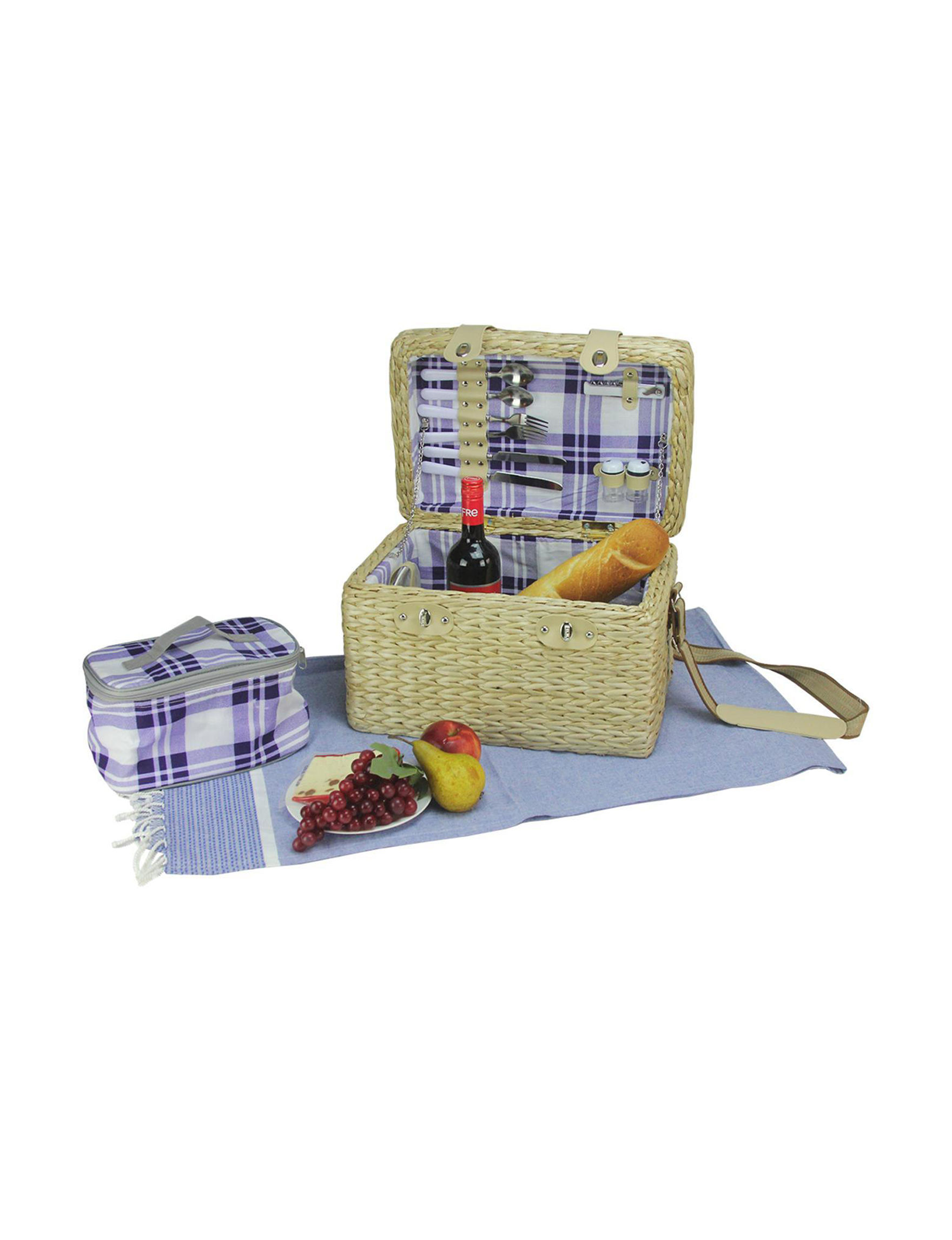 Northlight Brown / Purple Baskets Outdoor Entertaining