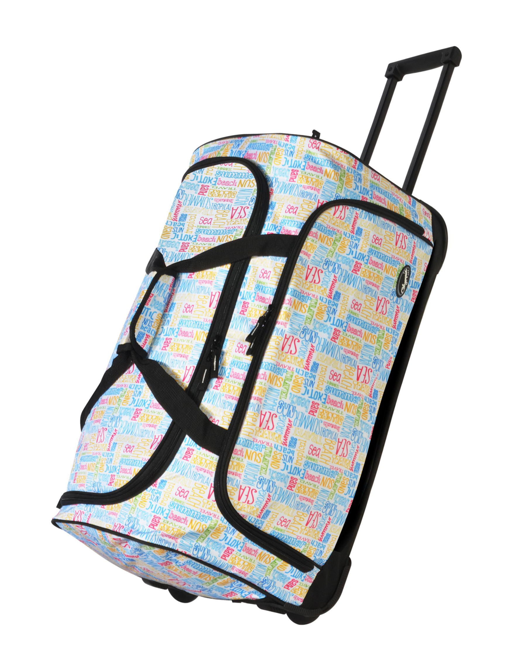 Olympia Blue / Multi Carry On Luggage Duffle Bags Weekend Bags