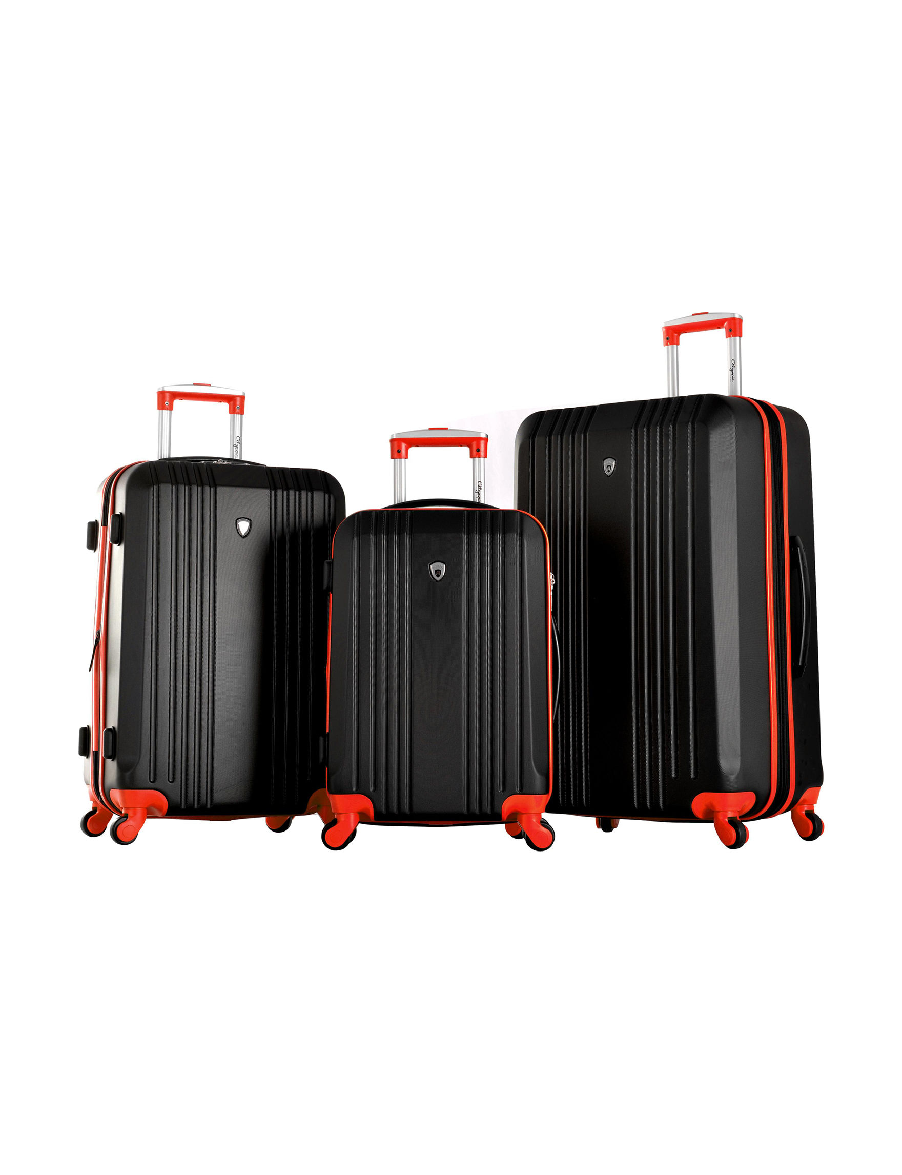 Olympia USA Black / Red Luggage Sets