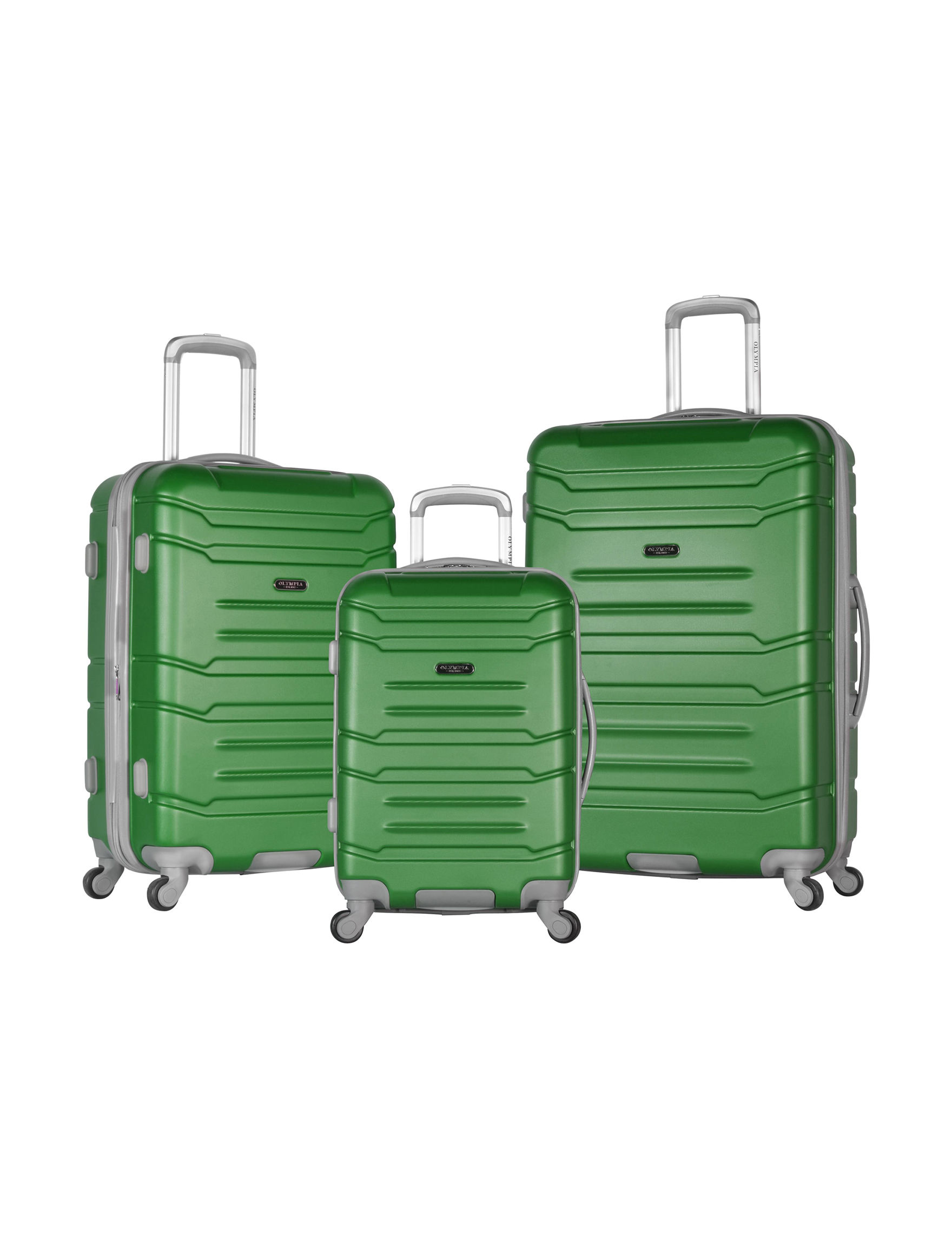 Olympia USA Green Luggage Sets