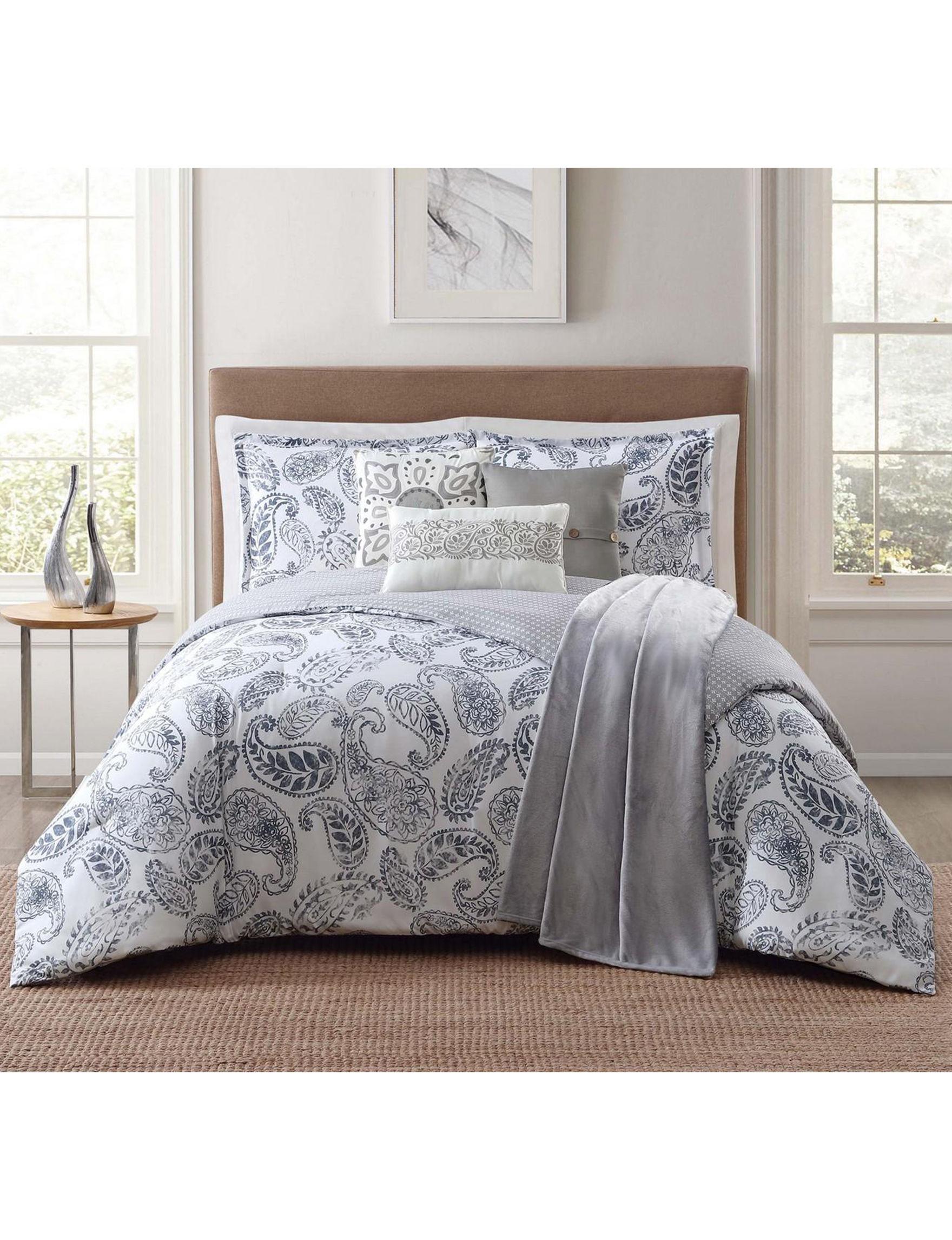 Jennifer Adams Blue / White Comforters & Comforter Sets