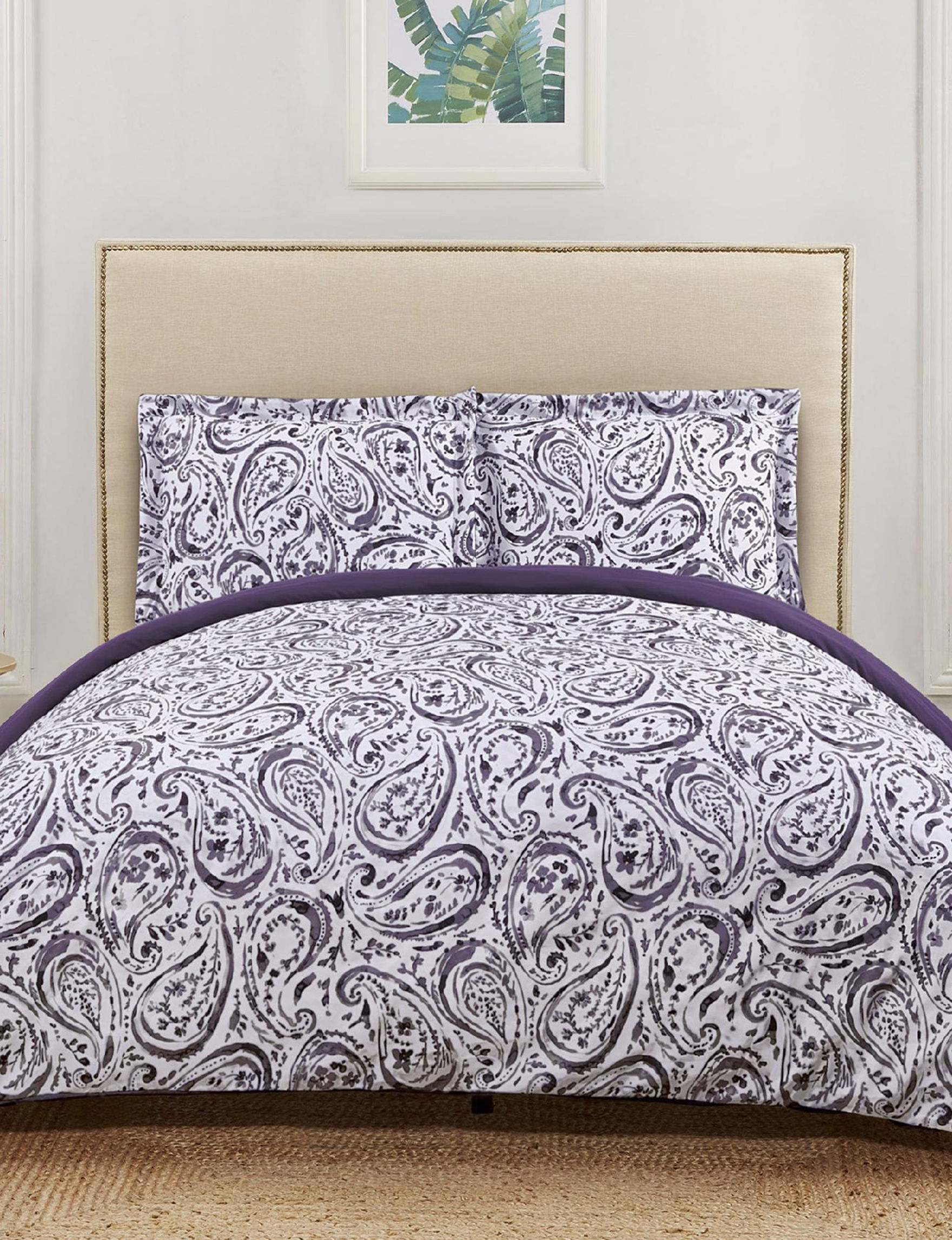 Truly Soft Purple / White Duvet Duvets & Duvet Sets