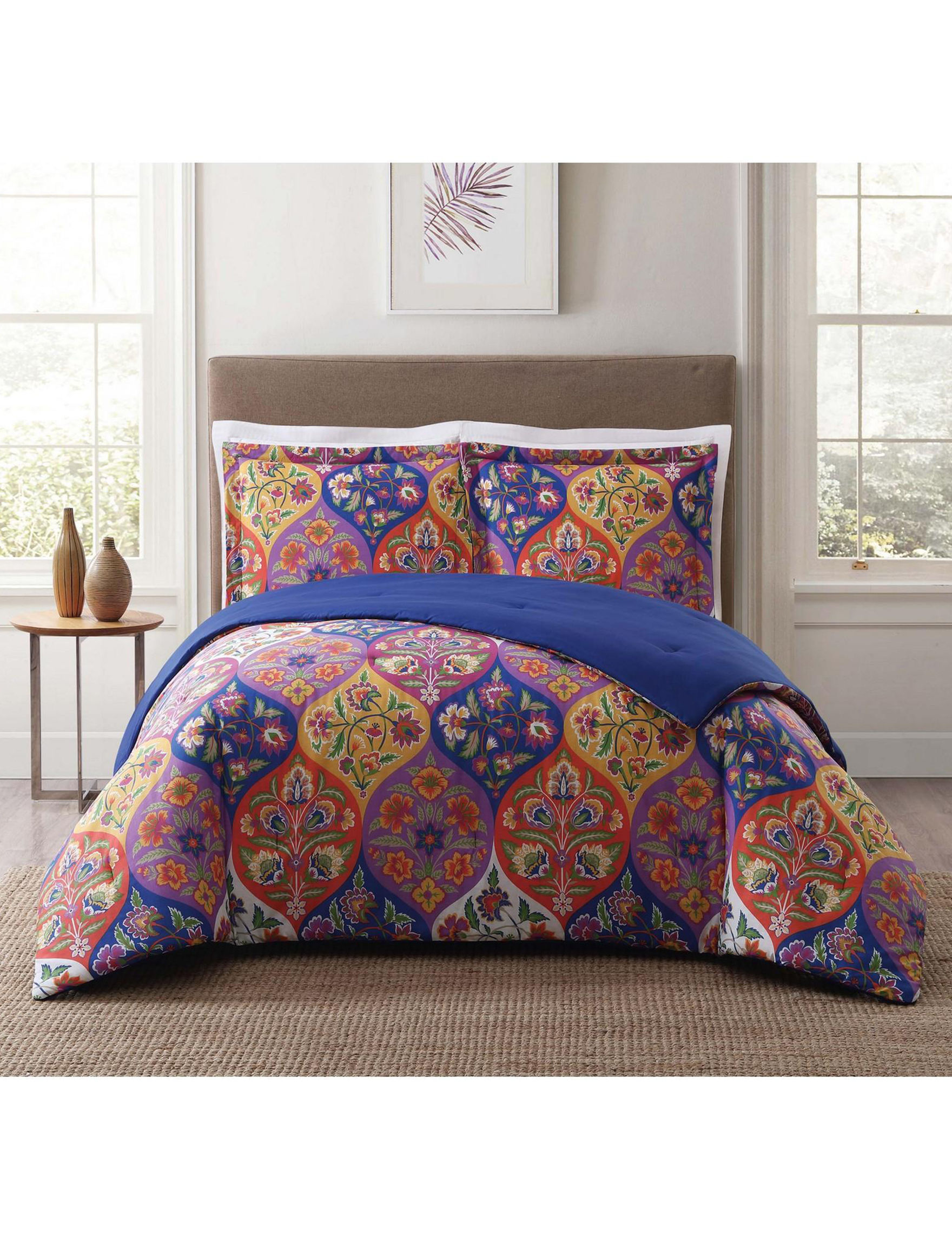 Style 212 Blue / Orange Comforters & Comforter Sets