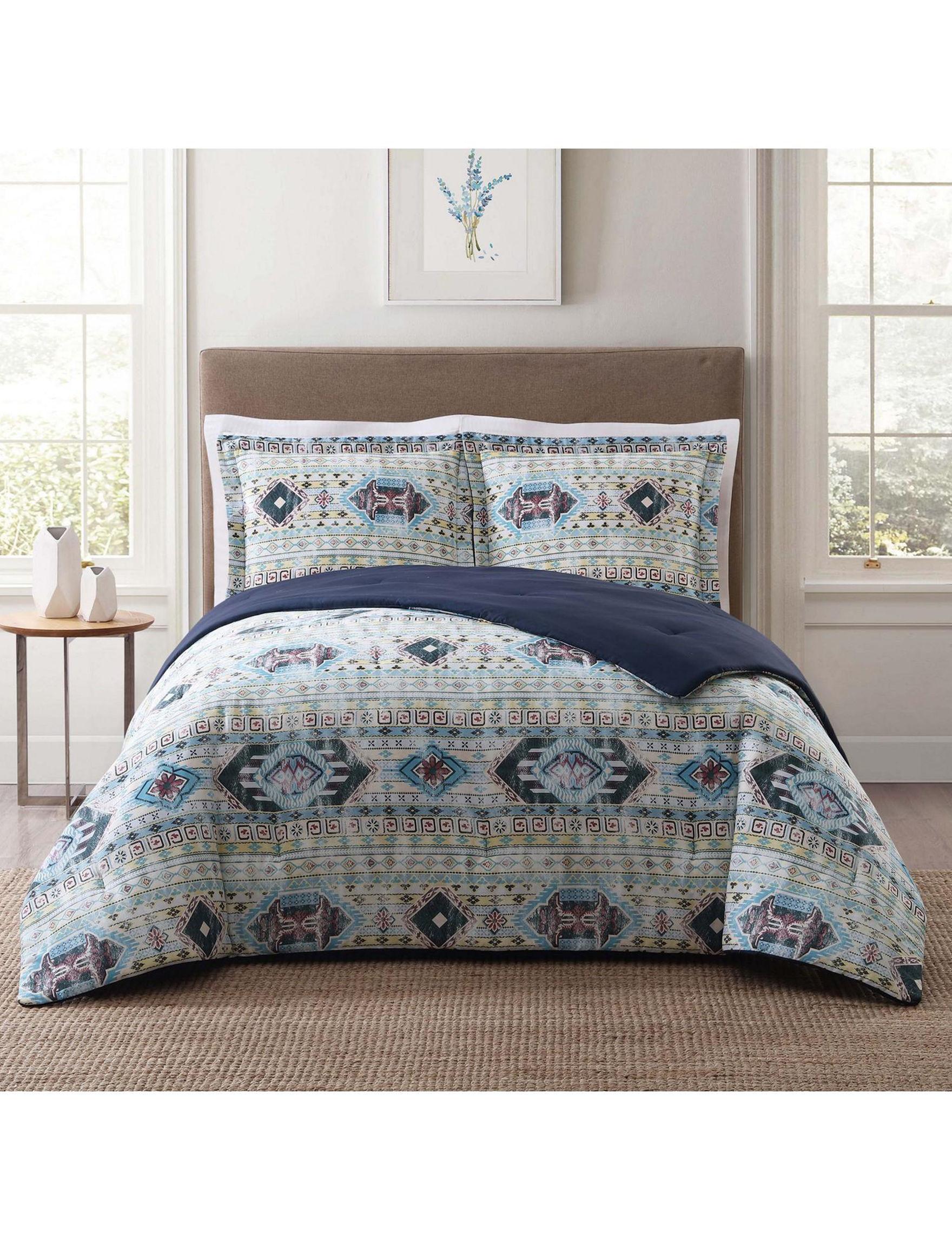 Style 212 Navy Multi Comforters & Comforter Sets