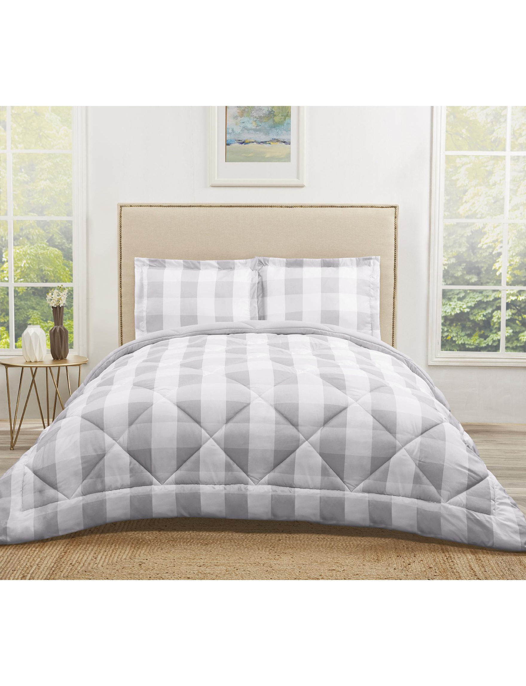 plaid image very pleasant of flannel sets blue comforter