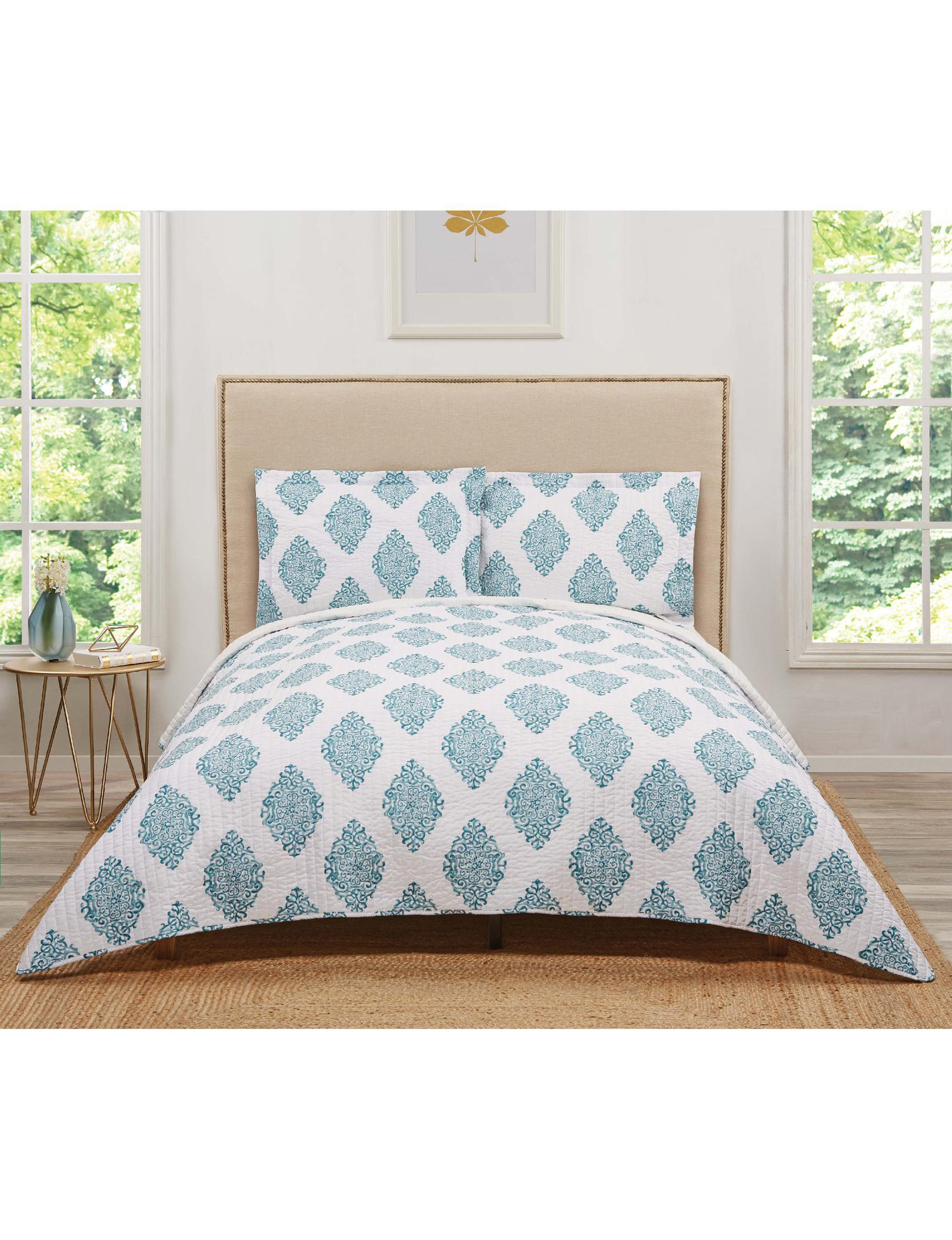 Truly Soft Teal Quilts & Quilt Sets