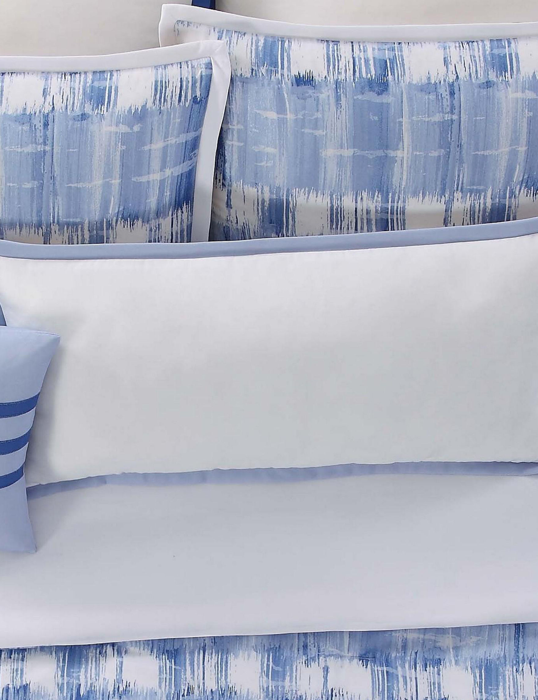 Vince Camuto Blue / White Decorative Pillows