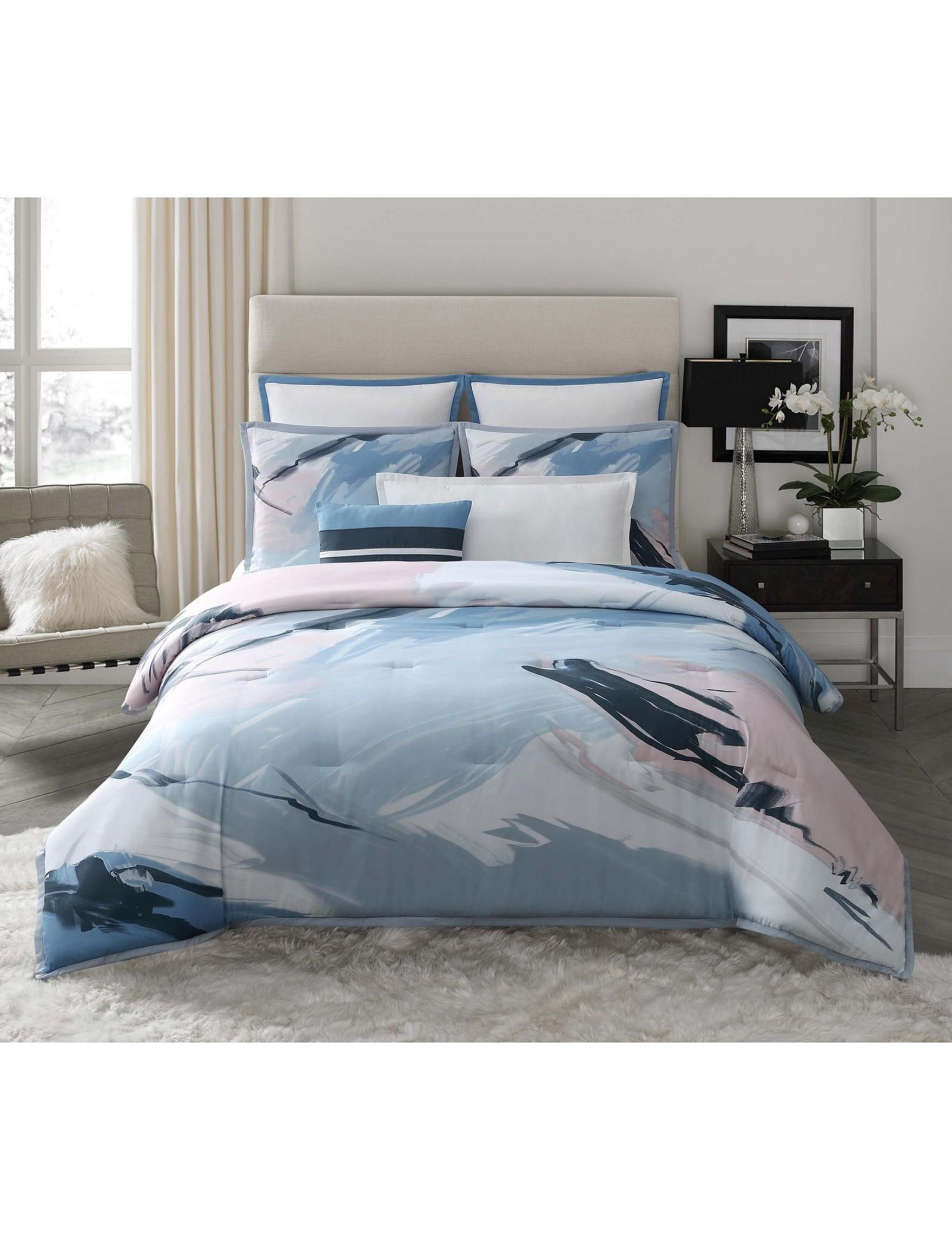 Vince Camuto Pink / Grey Comforters & Comforter Sets