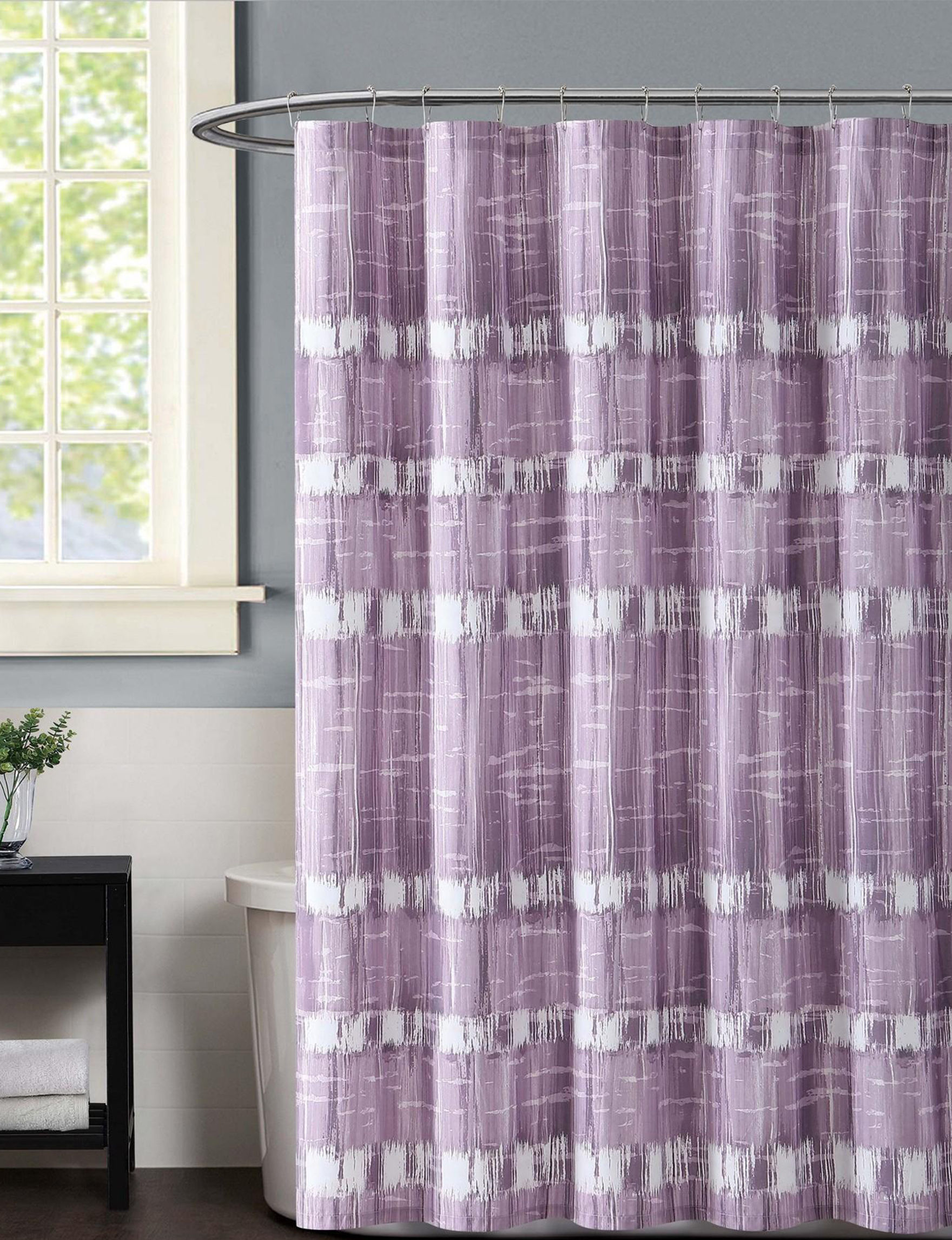 Vince Camuto Purple Shower Curtains & Hooks