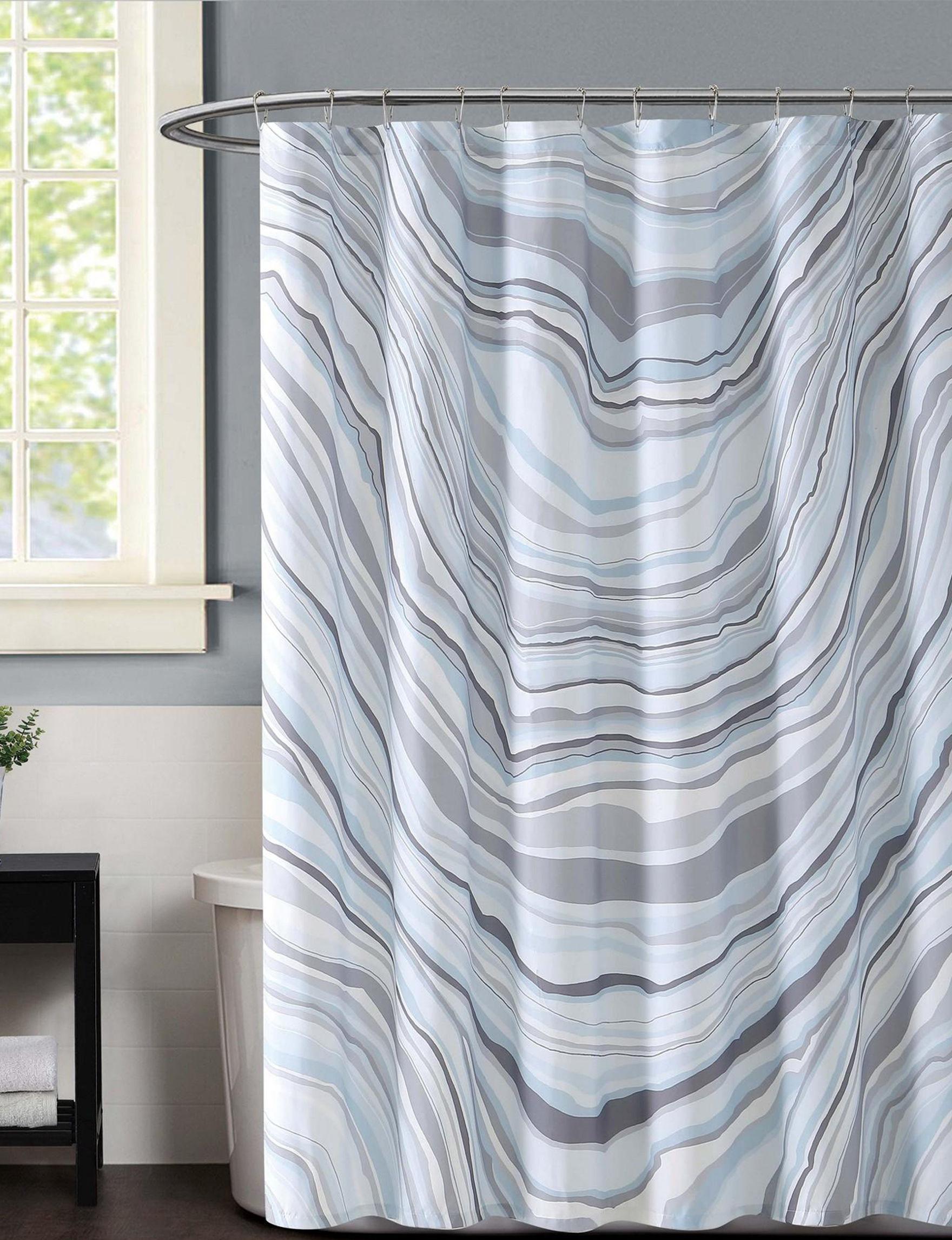 Vince Camuto Blue Shower Curtains & Hooks