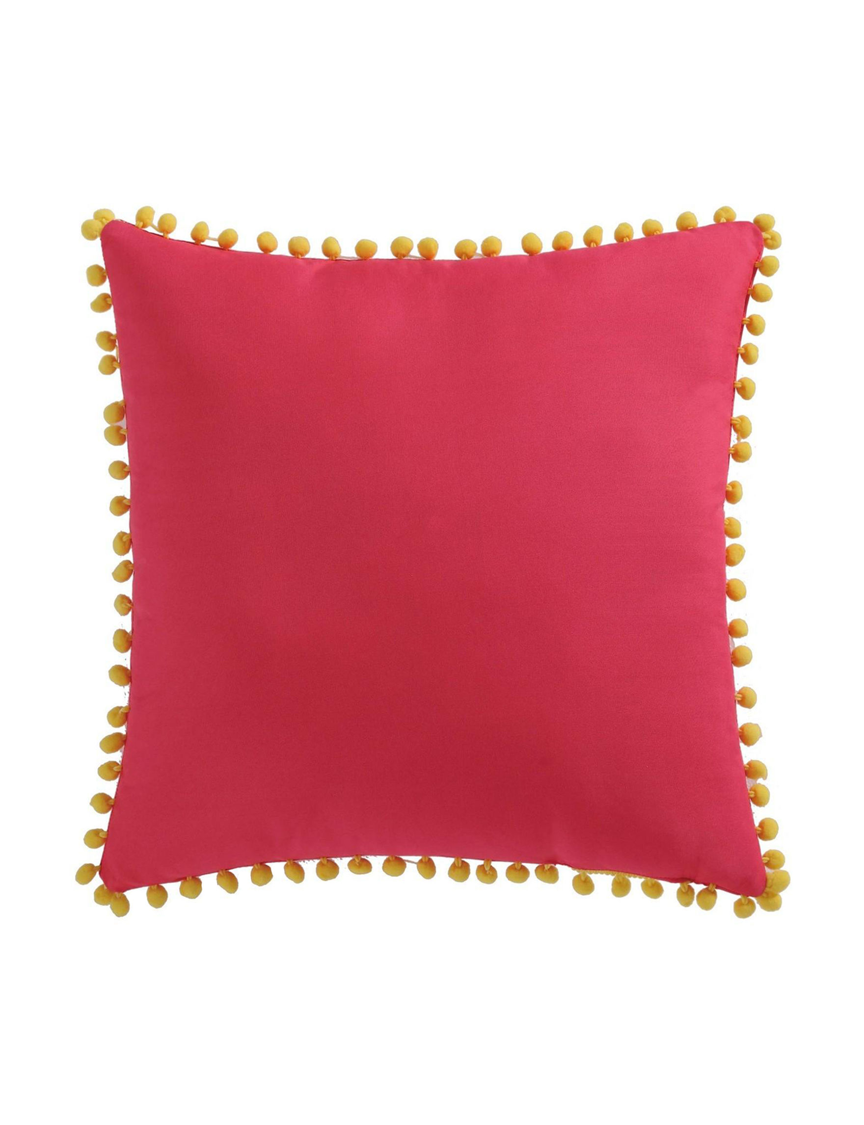 Laura Hart Kids Red Multi Decorative Pillows