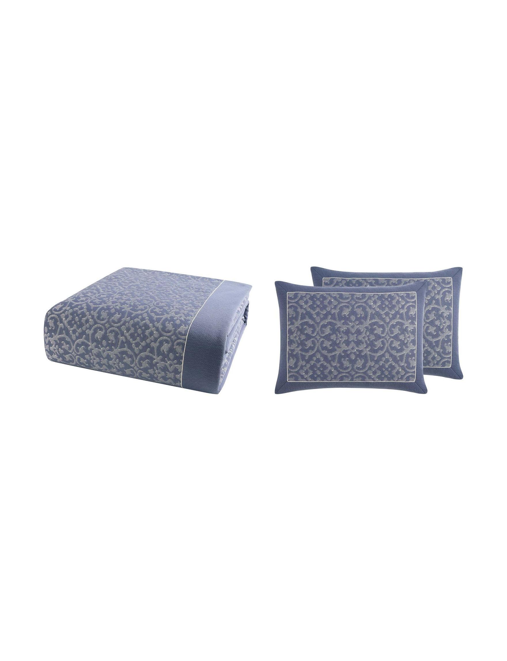 Charisma Blue / Silver Duvet Duvets & Duvet Sets