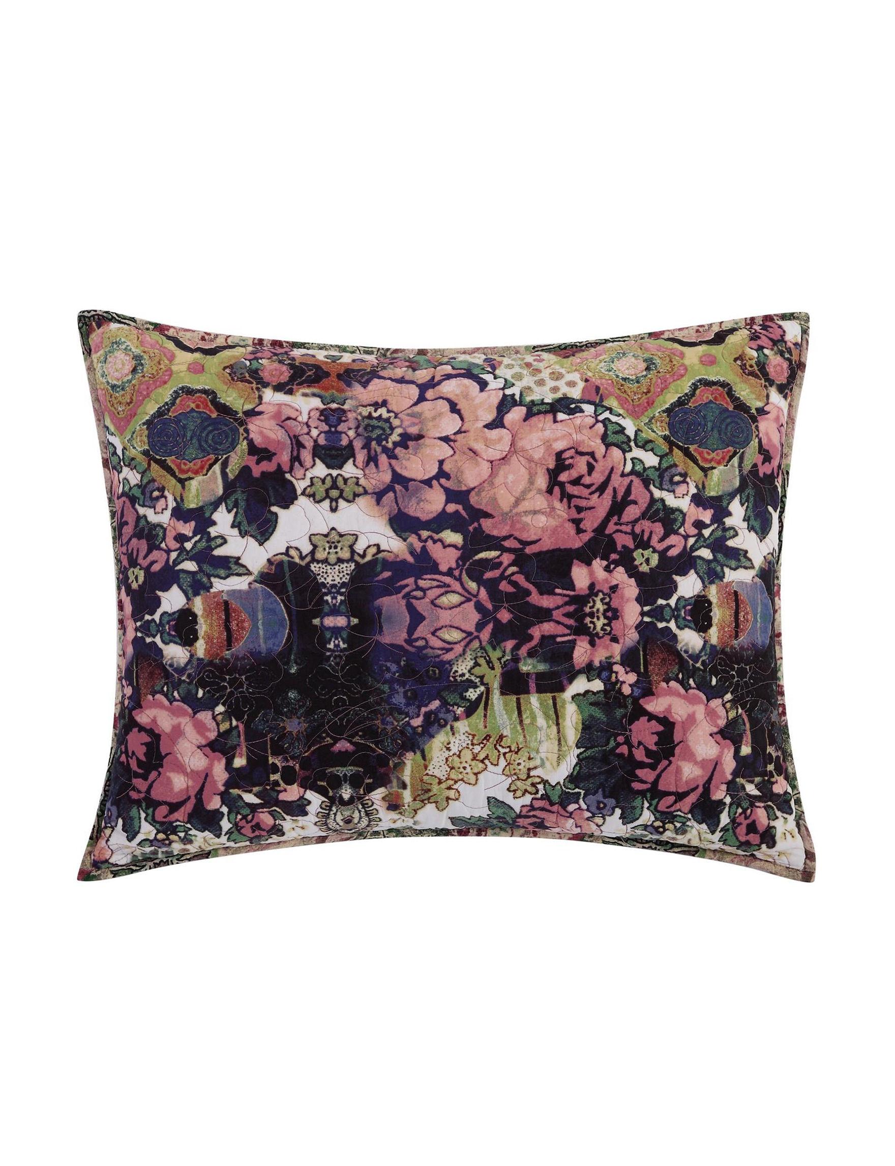 Tracy Porter Green Multi Pillow Shams