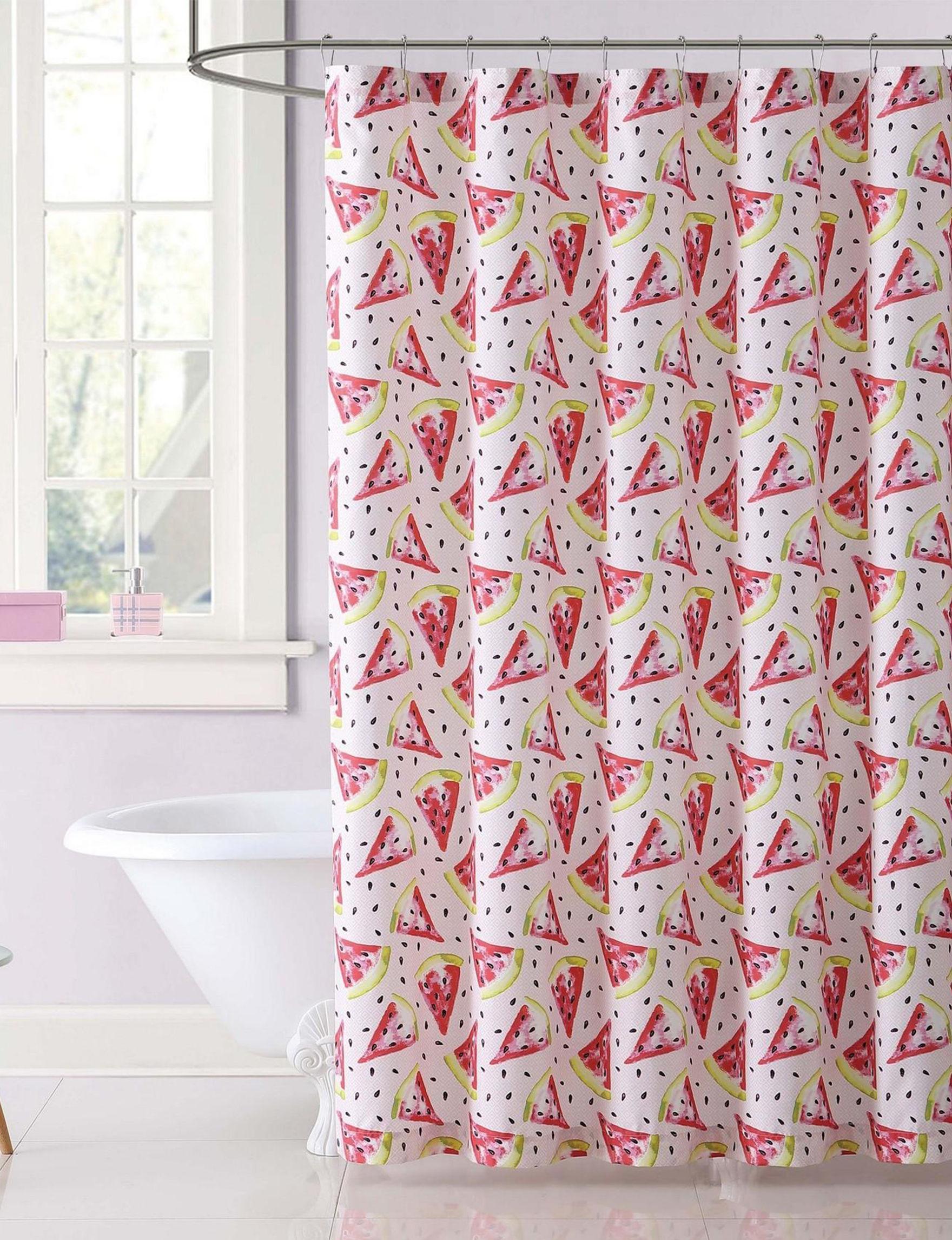 Laura Hart Kids Pink / Red Shower Curtains & Hooks
