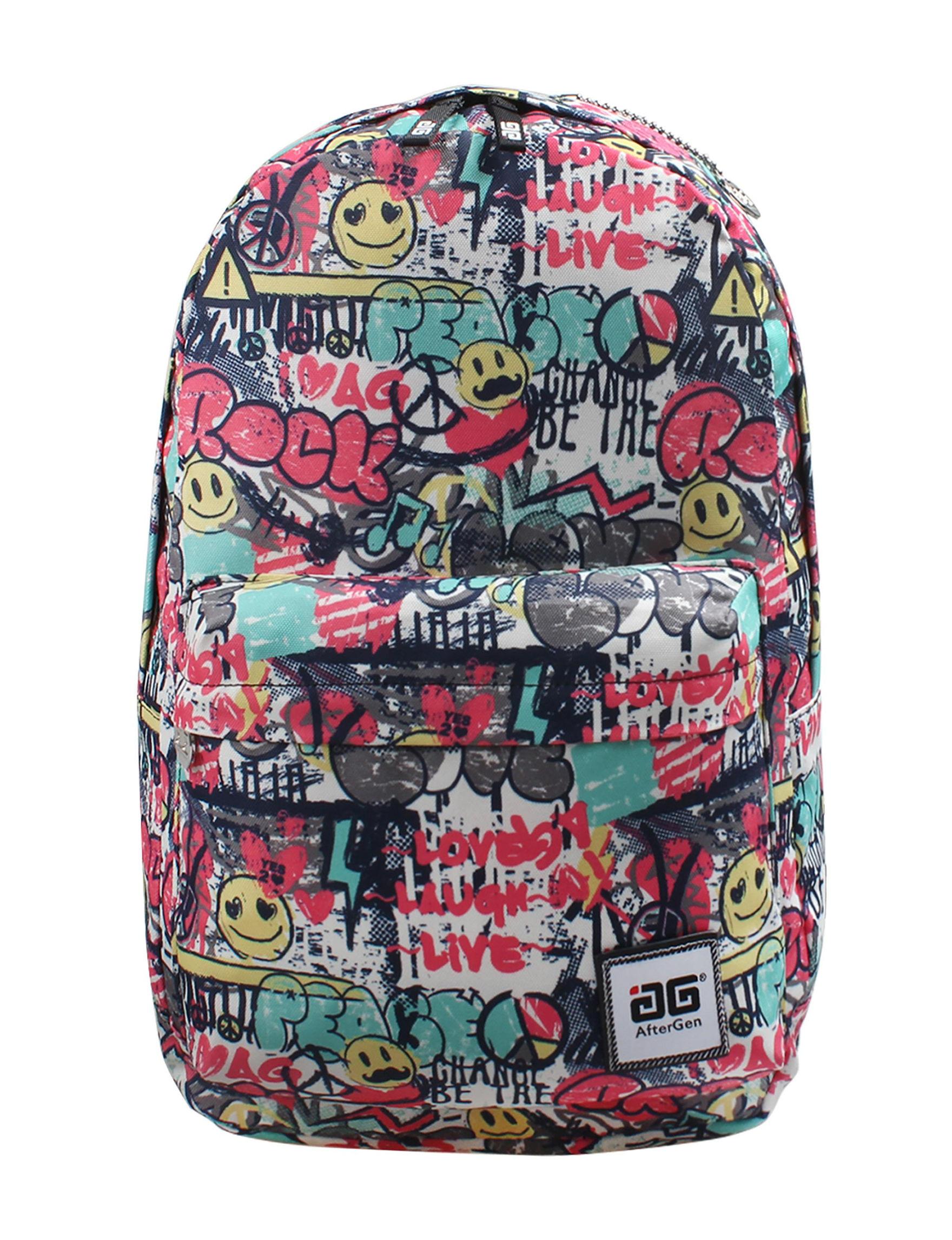 Aftergen Pink Multi Bookbags & Backpacks
