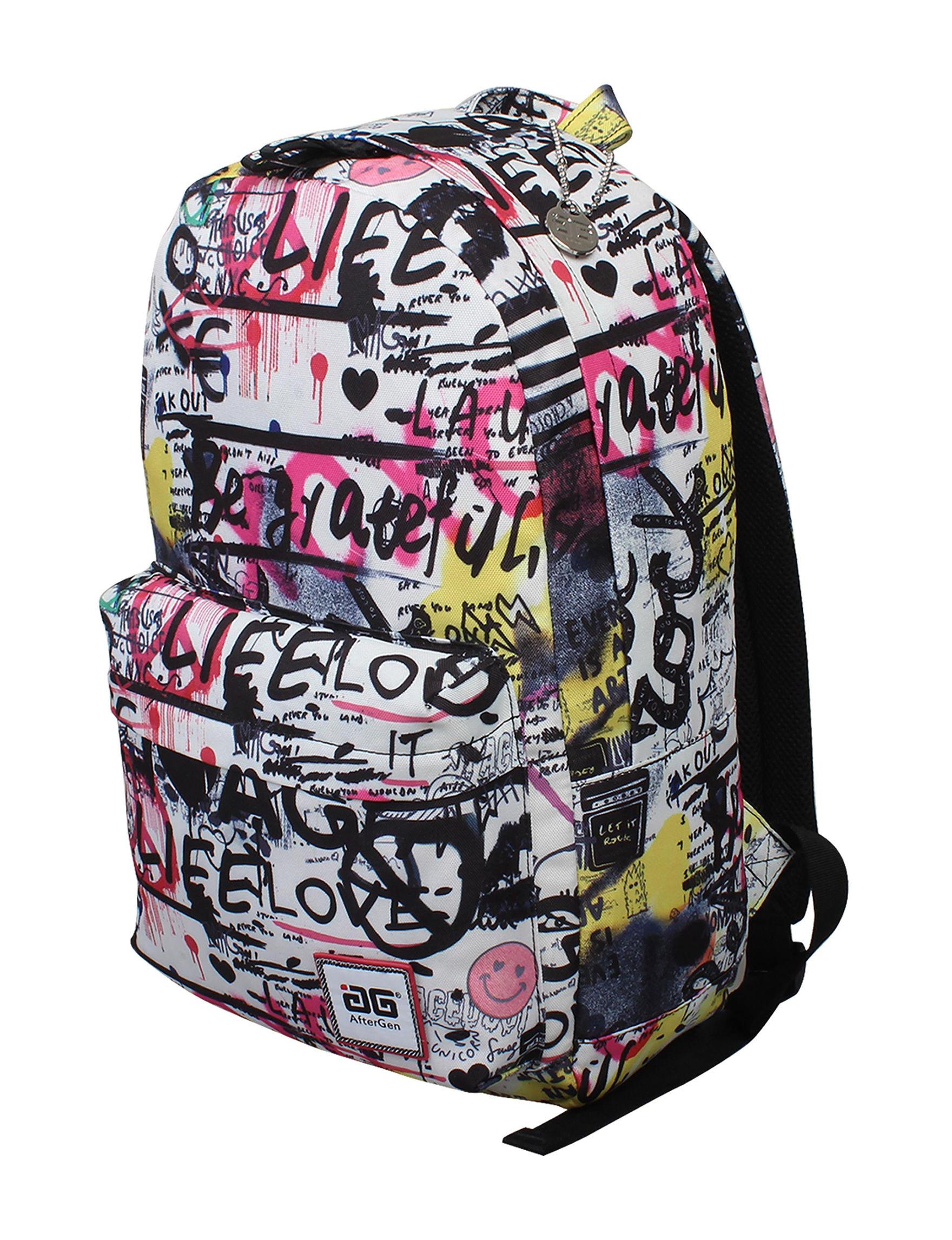 Aftergen Pink / White / Black Bookbags & Backpacks