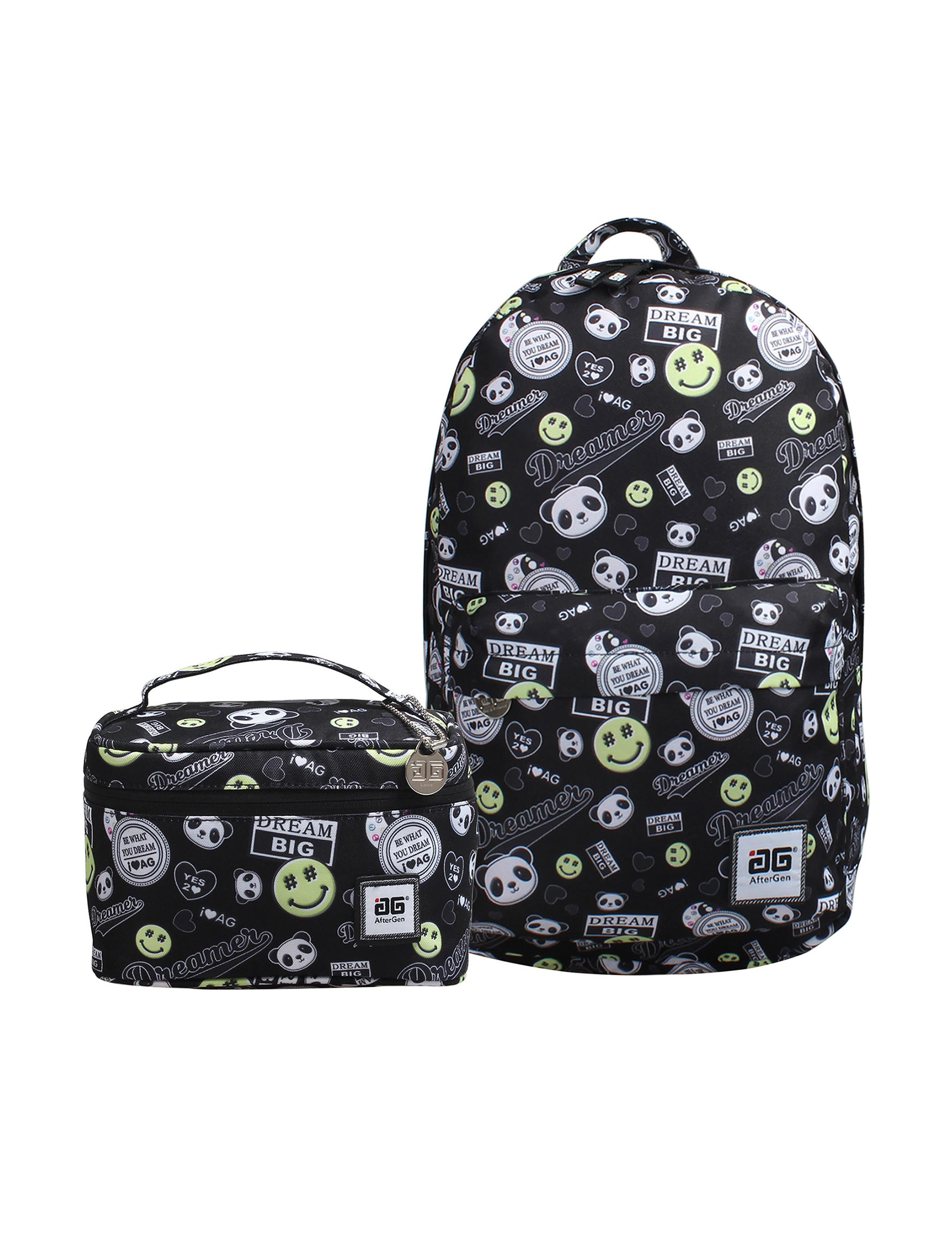 Aftergen Black / White Lunch Boxes & Bags Bookbags & Backpacks Travel Accessories