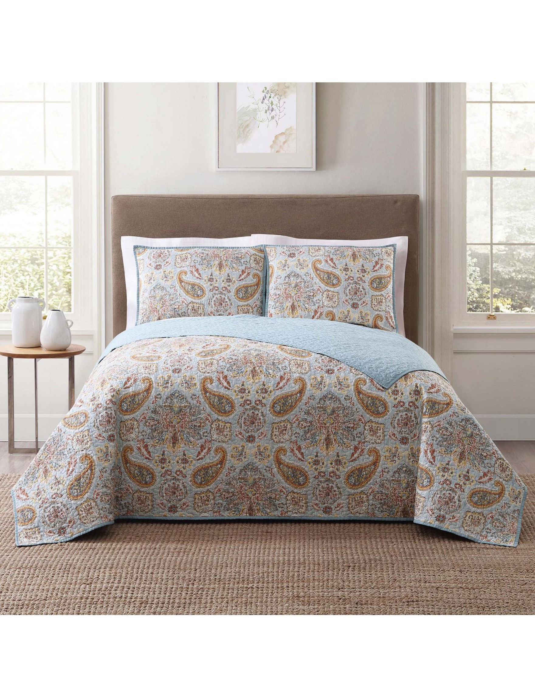 Style 212 Blue Multi Quilts & Quilt Sets
