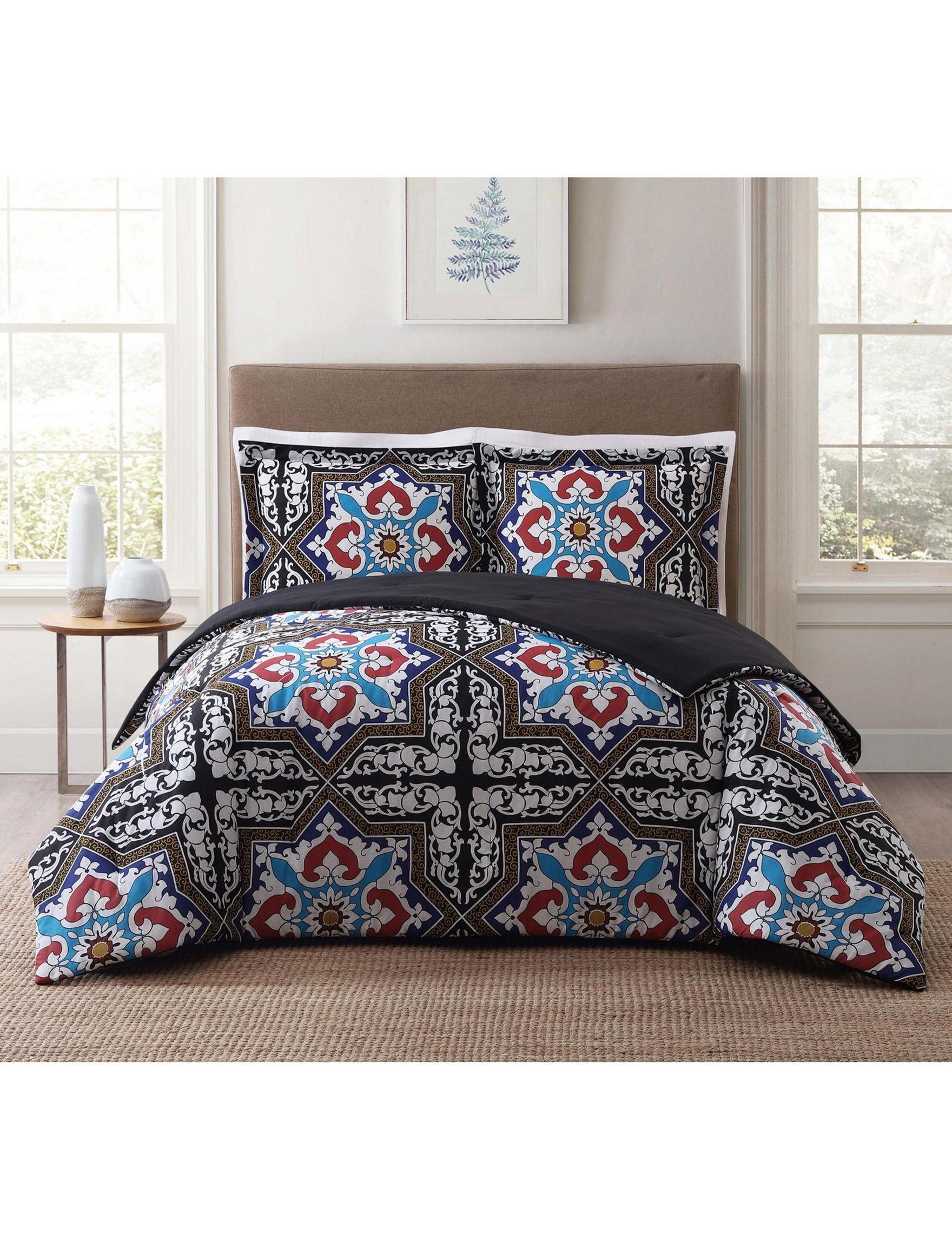 Style 212 Blue / Black Comforters & Comforter Sets
