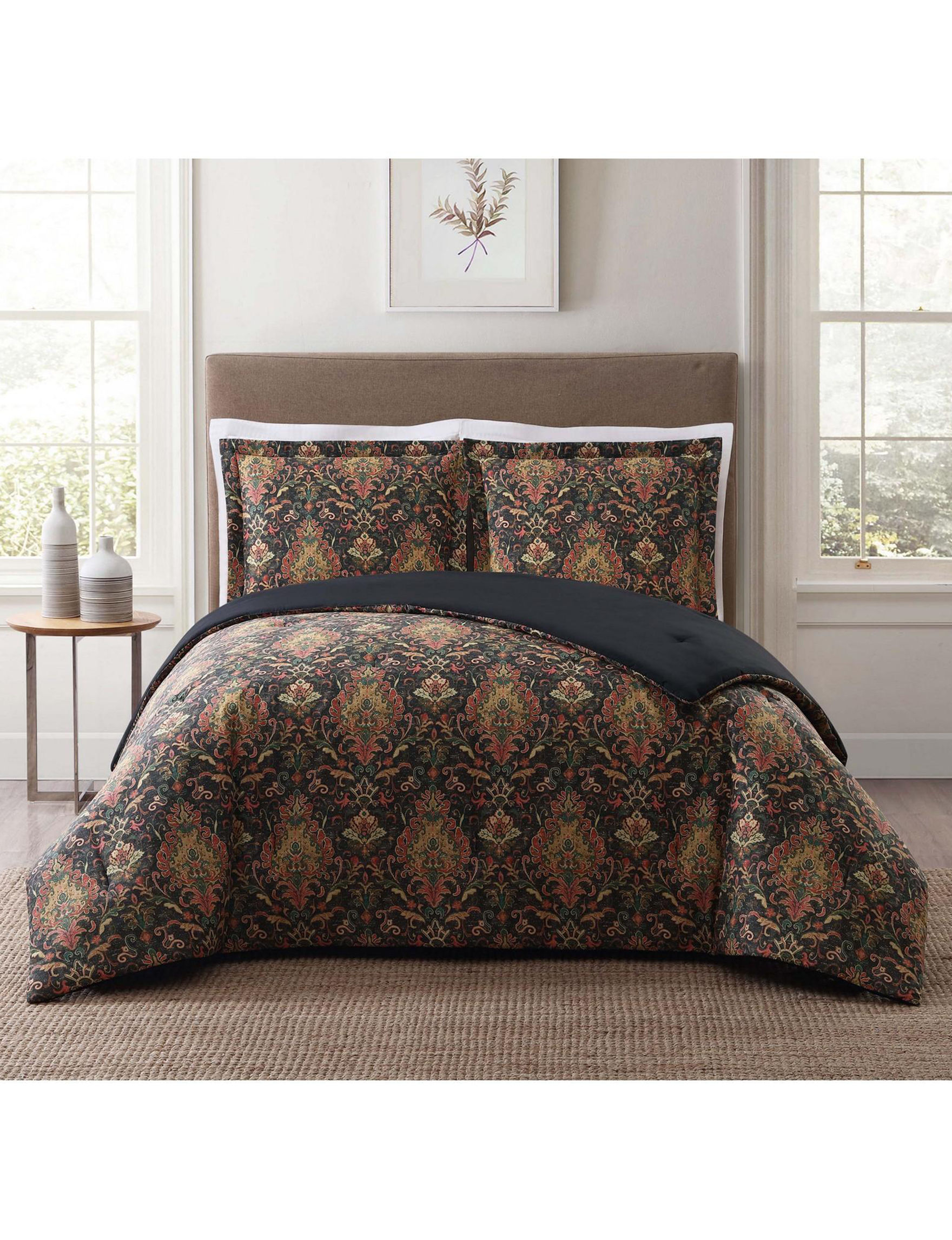 Style 212 Black Multi Comforters & Comforter Sets