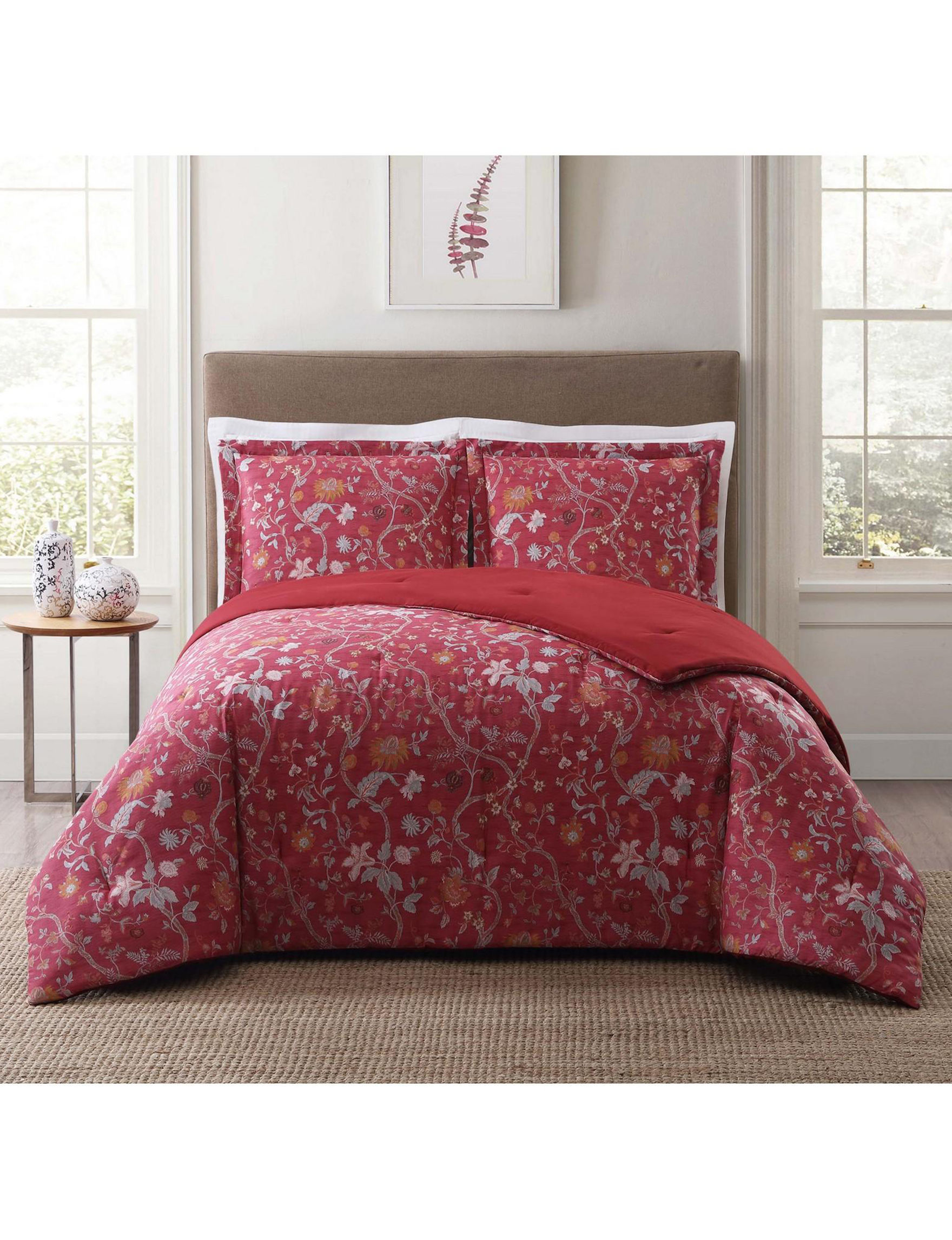 Style 212 Red Multi Comforters & Comforter Sets