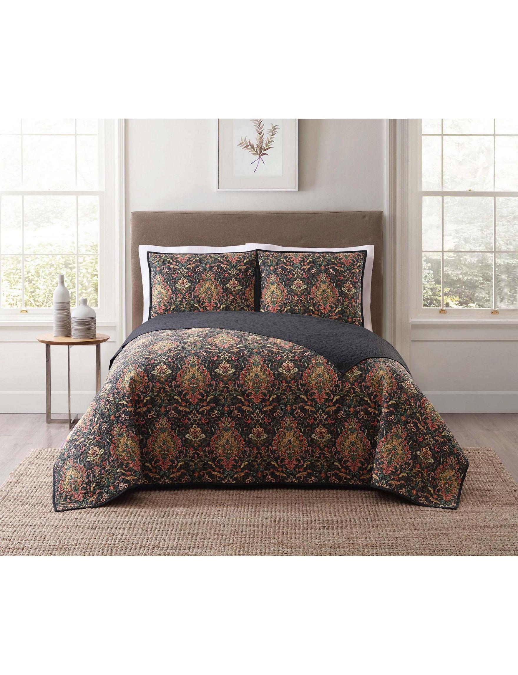 Style 212 Black Multi Quilts & Quilt Sets