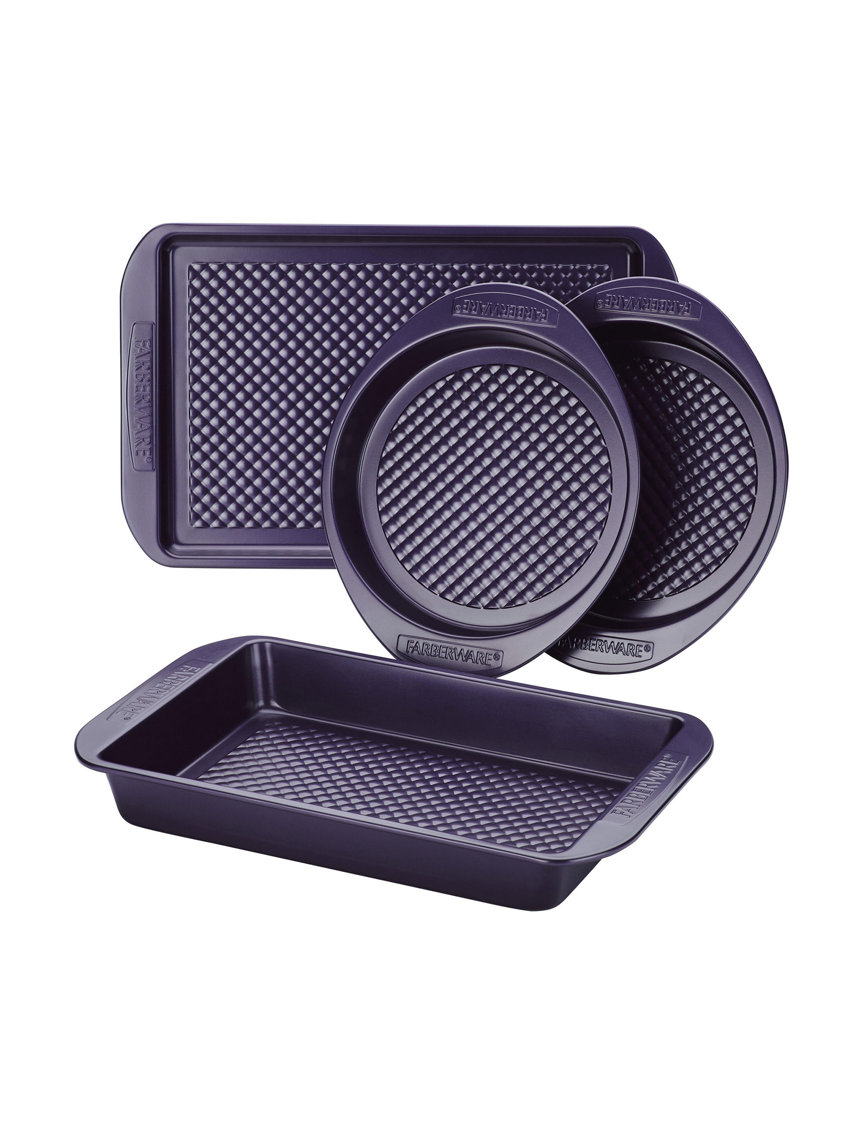 Farberware Purple Bakeware Sets Baking & Casserole Dishes Cake Pans Cookie Sheets Bakeware