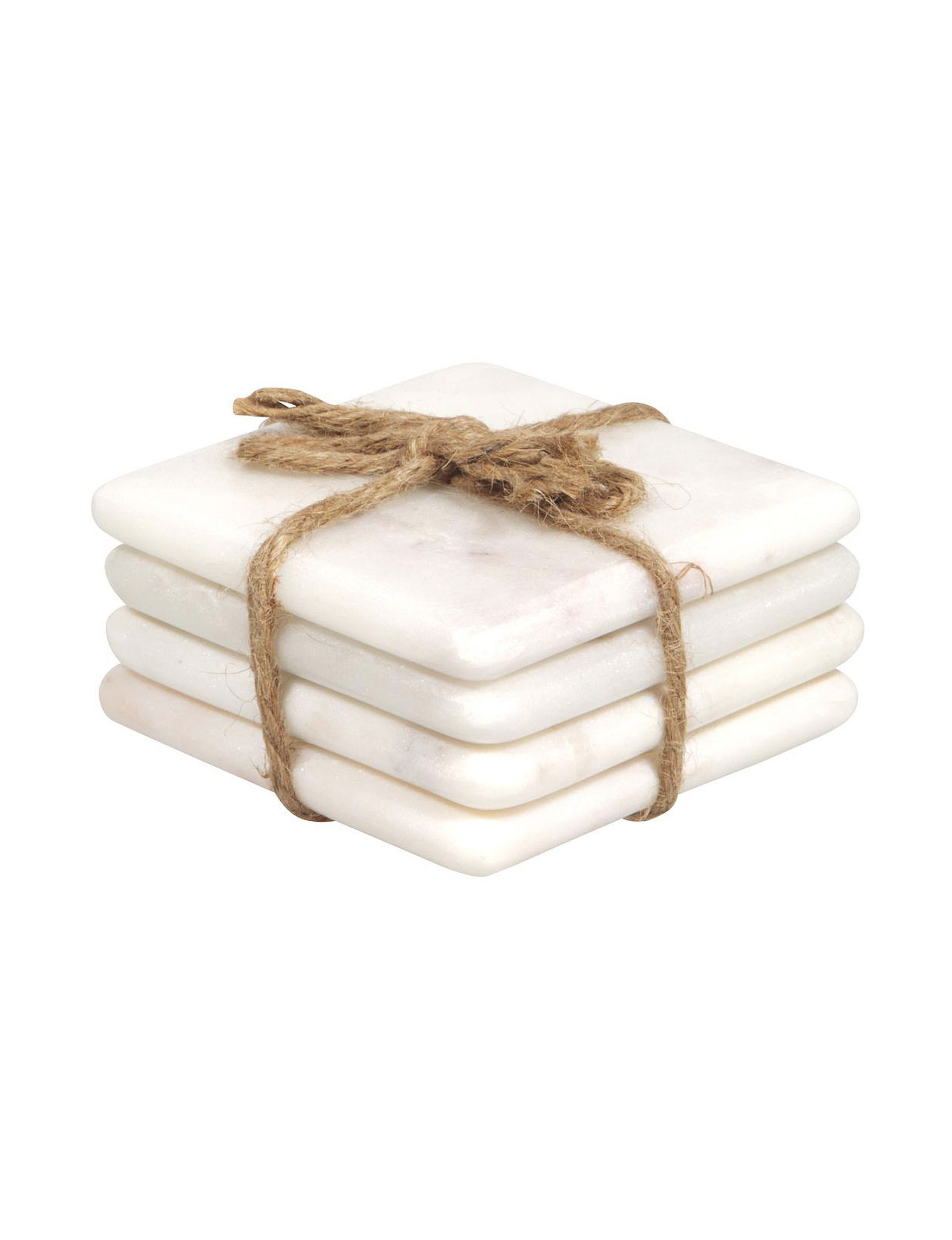 Home Essentials White Coasters Home Accents