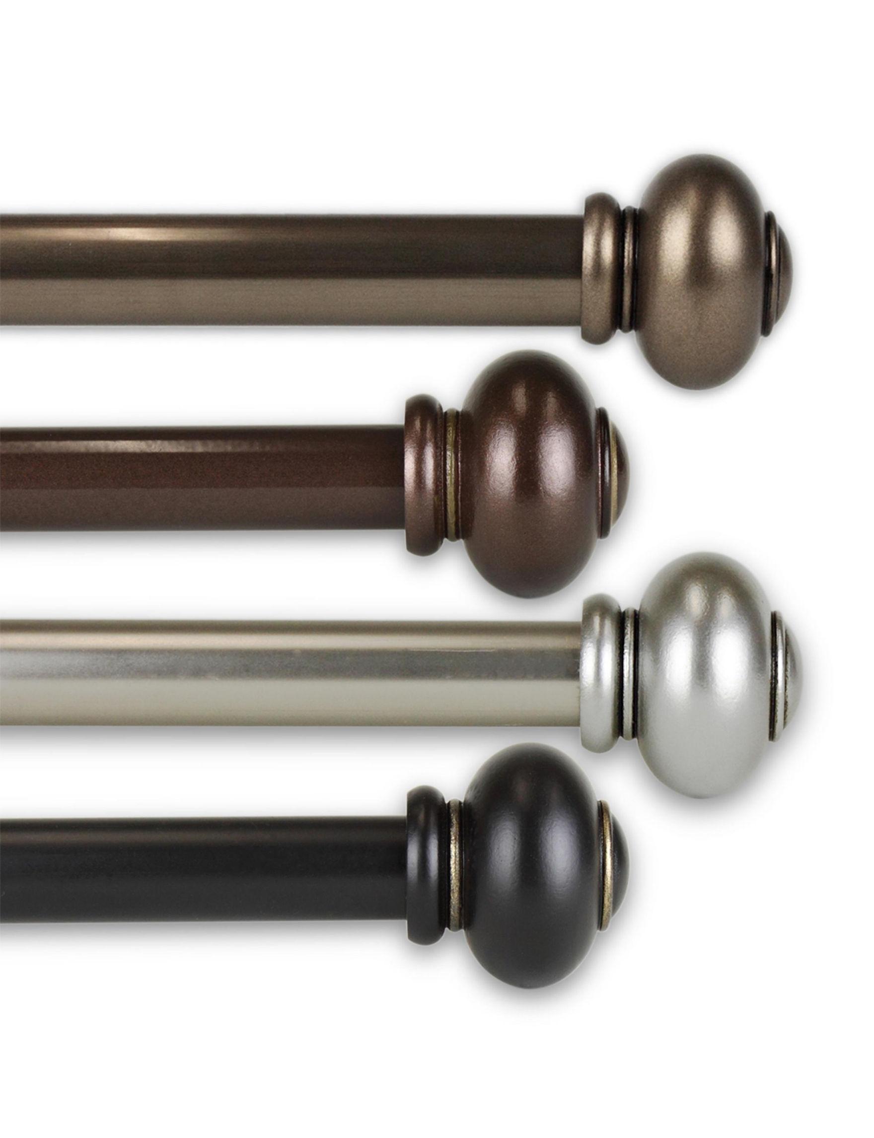 Rod Desyne Black Curtain Rods & Hardware Window Treatments