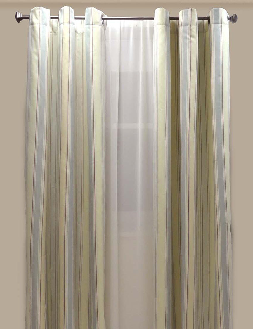Westgate Yellow Stripe Curtains & Drapes Window Treatments