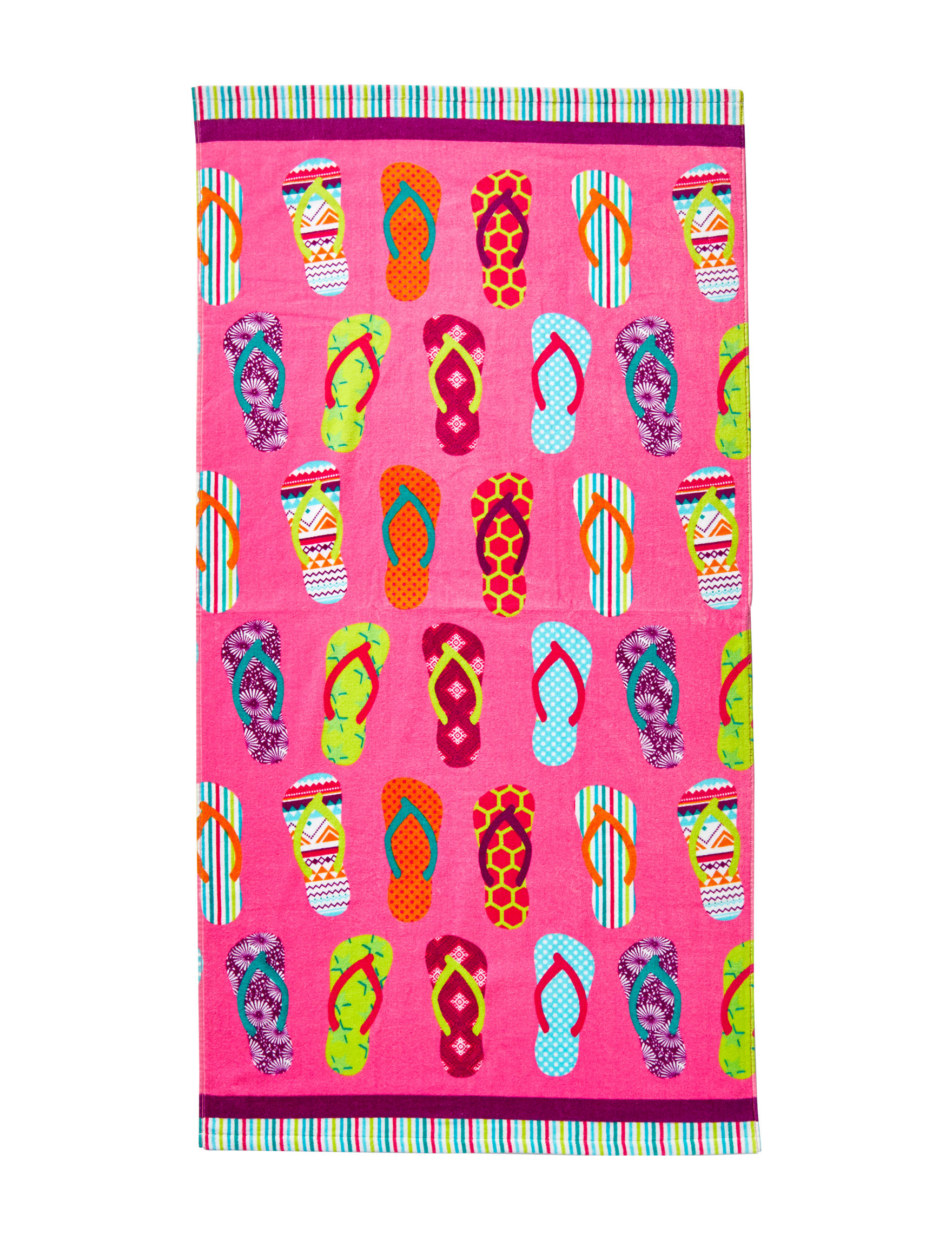 Peri Pink Multi Beach Towels Towels