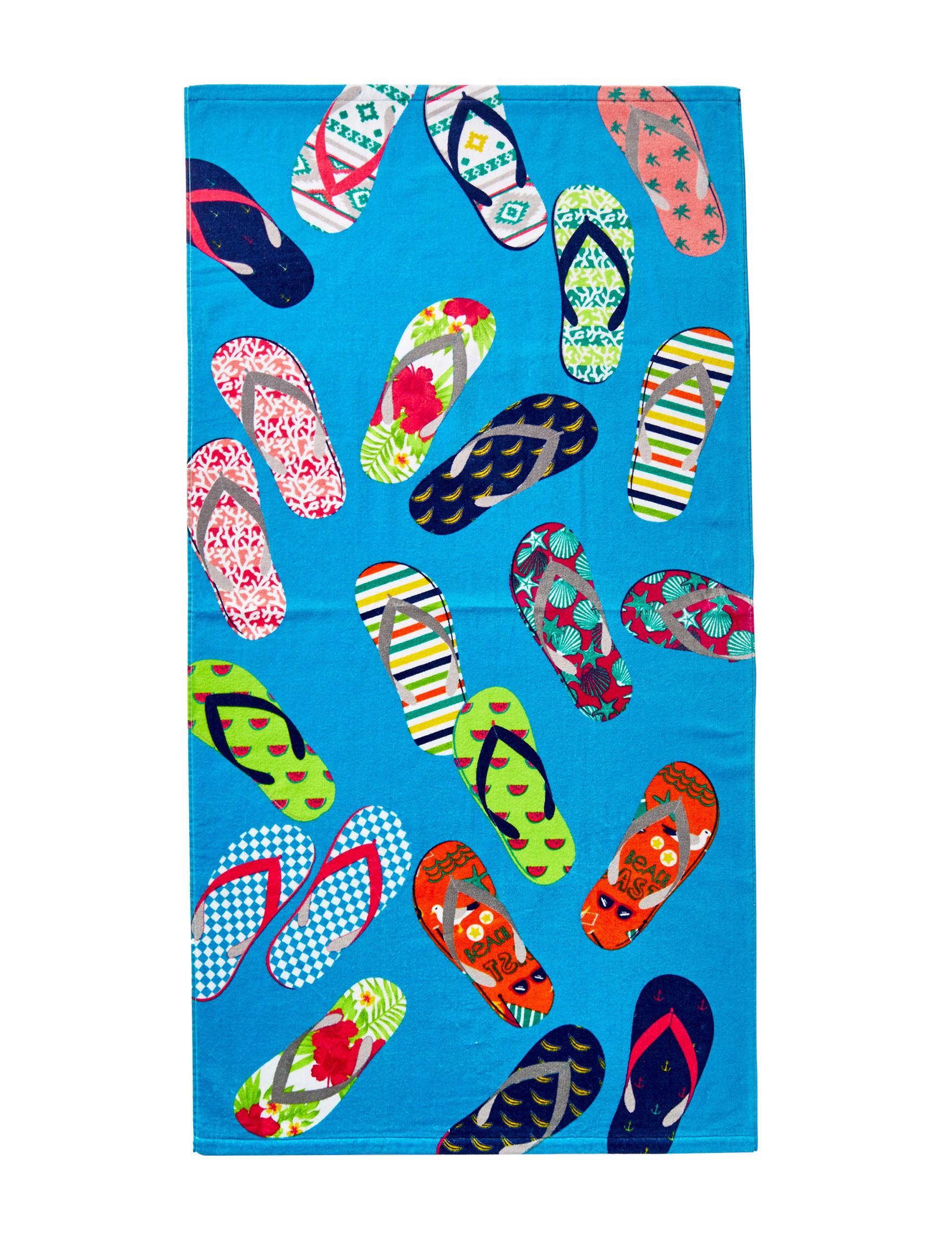 Peri Blue Multi Beach Towels Towels