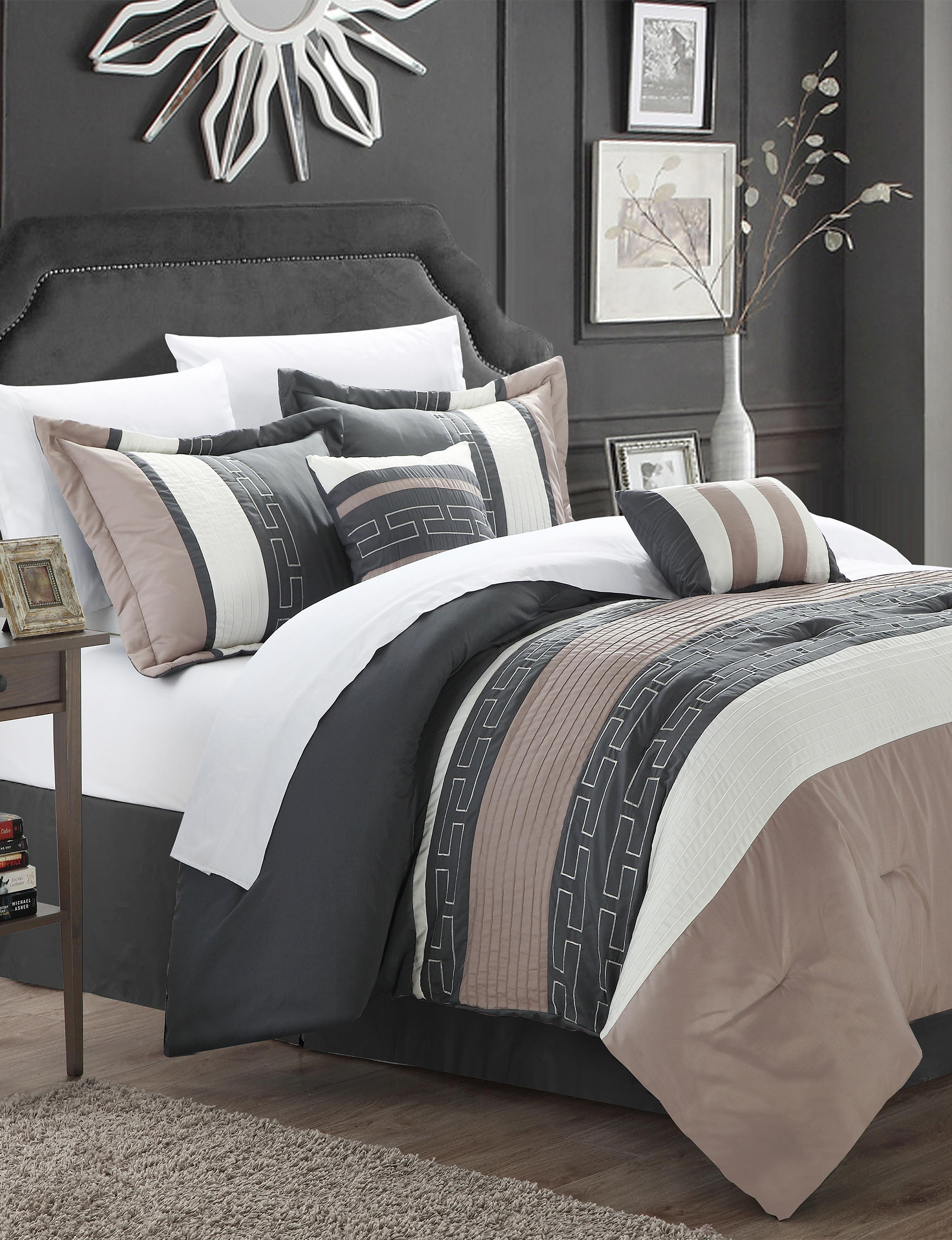 Chic Home Design Tan Multi Comforters & Comforter Sets